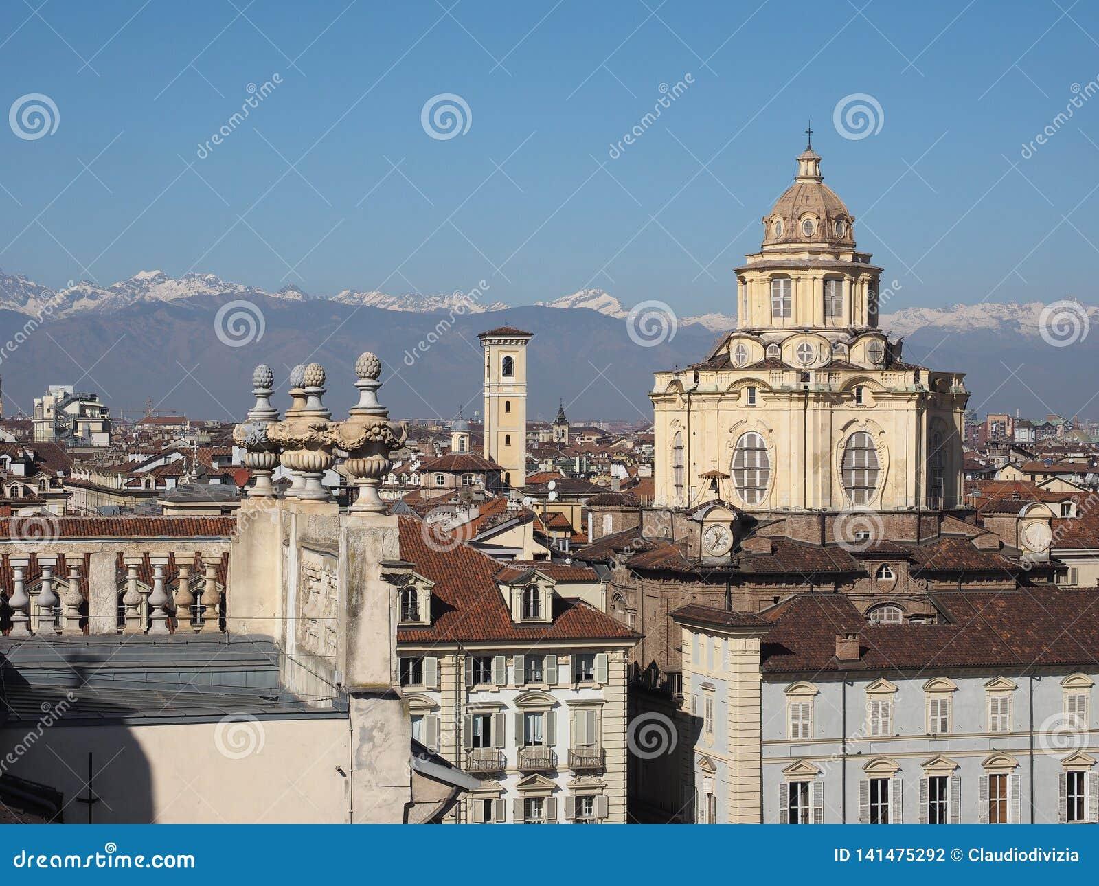 Vogelperspektive von Turin