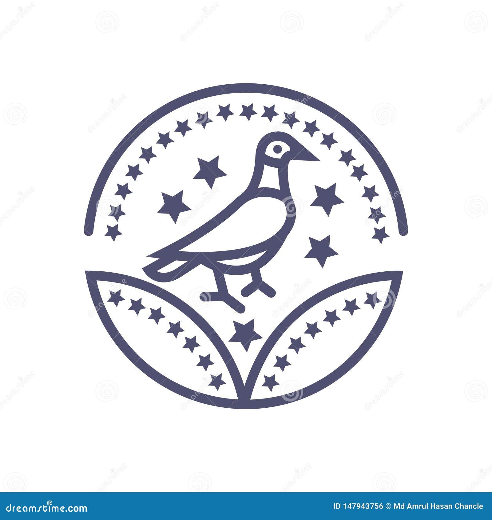 Vogelpreisikonenvektor-Vogelzeichen für Ihre Website oder mobilen Apps