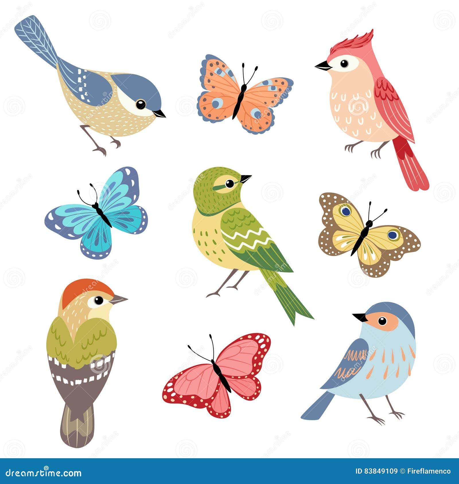Vogels en vlinders