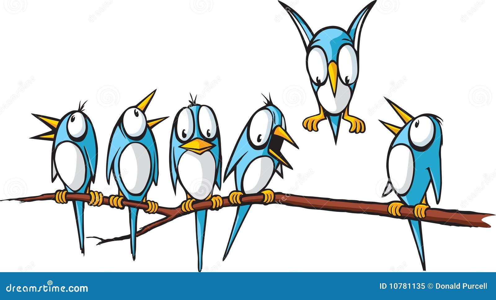 Vogels op een lidmaat