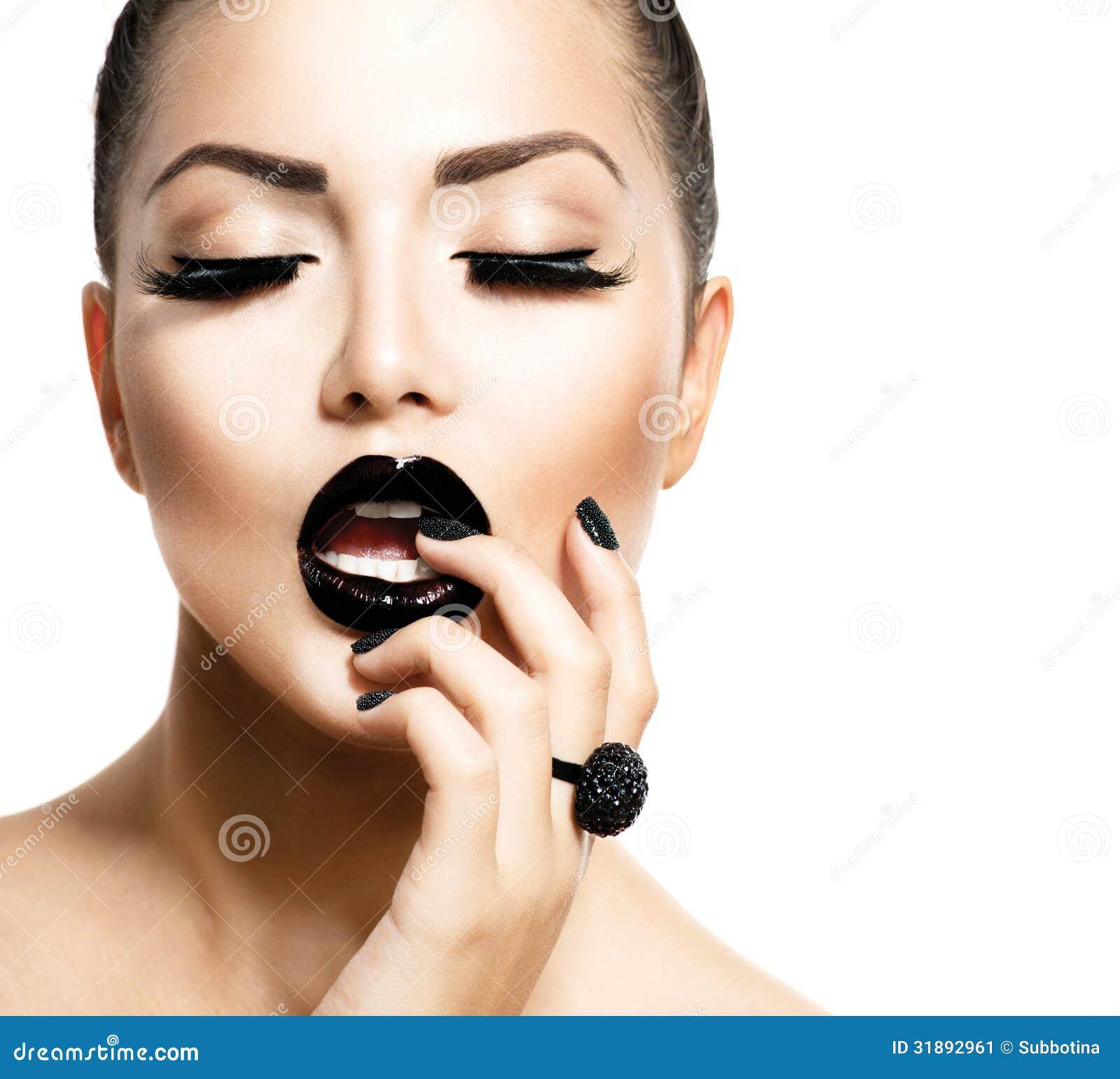 Fashion Beauty Model Girl Stock Image Image Of Manicured: Vogue Style Fashion Girl Stock Image. Image Of Make, Long