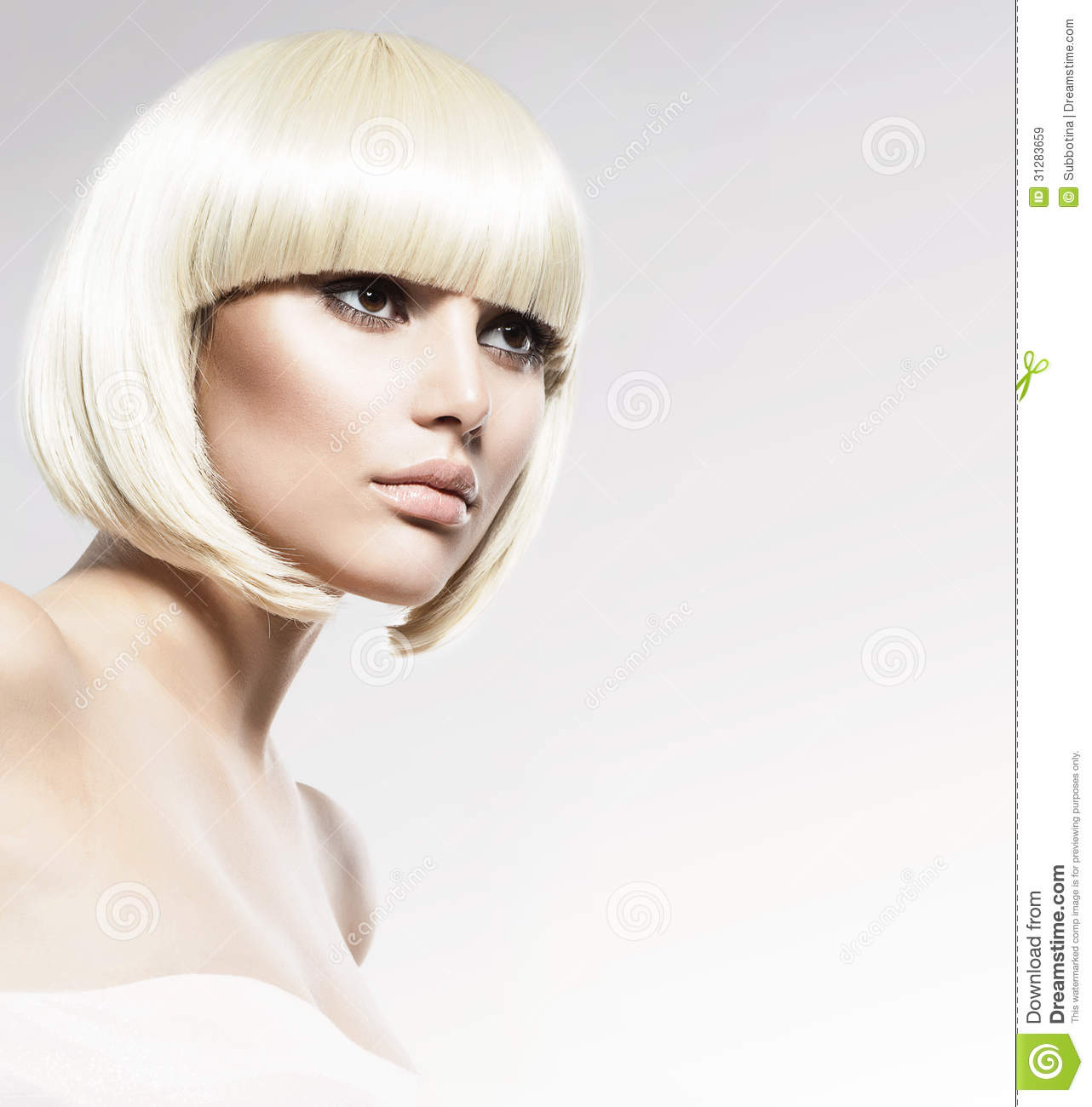 Vogue Style Model Portrait Stock Image. Image Of Brown