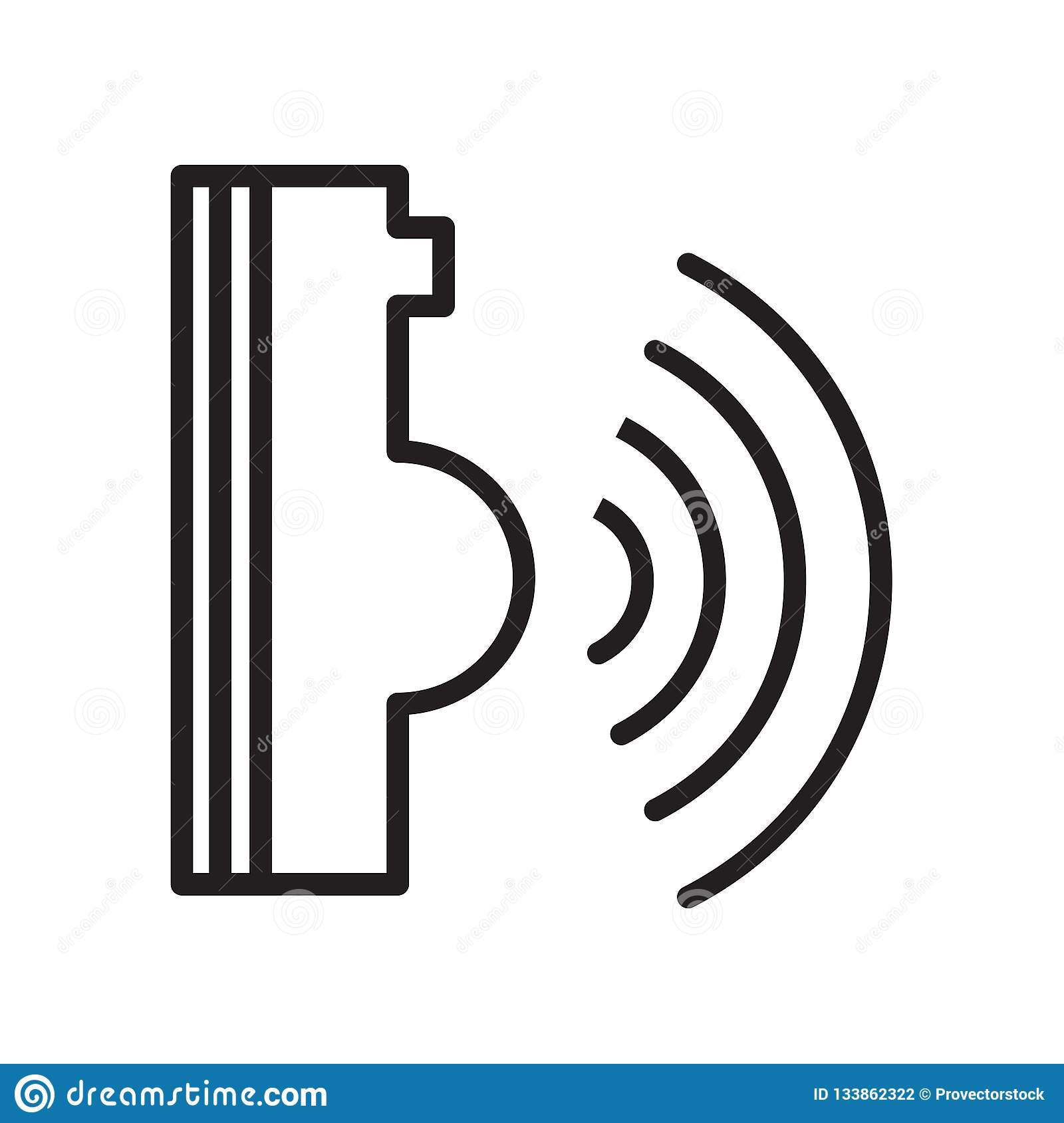 Voice Command Icon Isolated On White Background Stock Vector