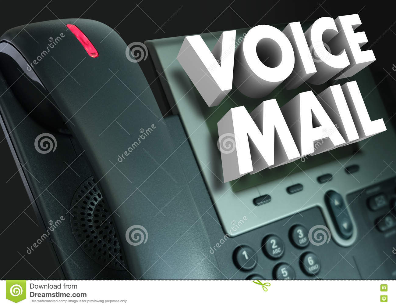 Voice mail 3d words telephone recorded message stock illustration voice mail 3d words telephone recorded message kristyandbryce Choice Image