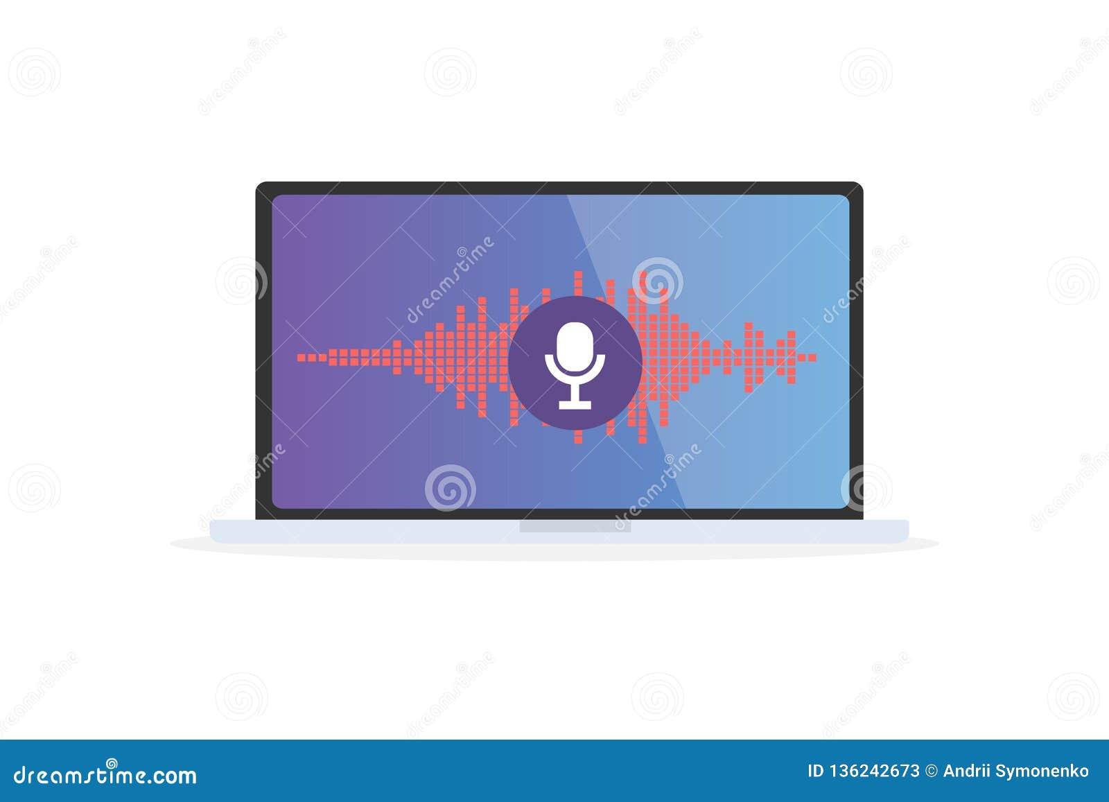 Voice Recognition Personal Assistant On Mobile App  Concept