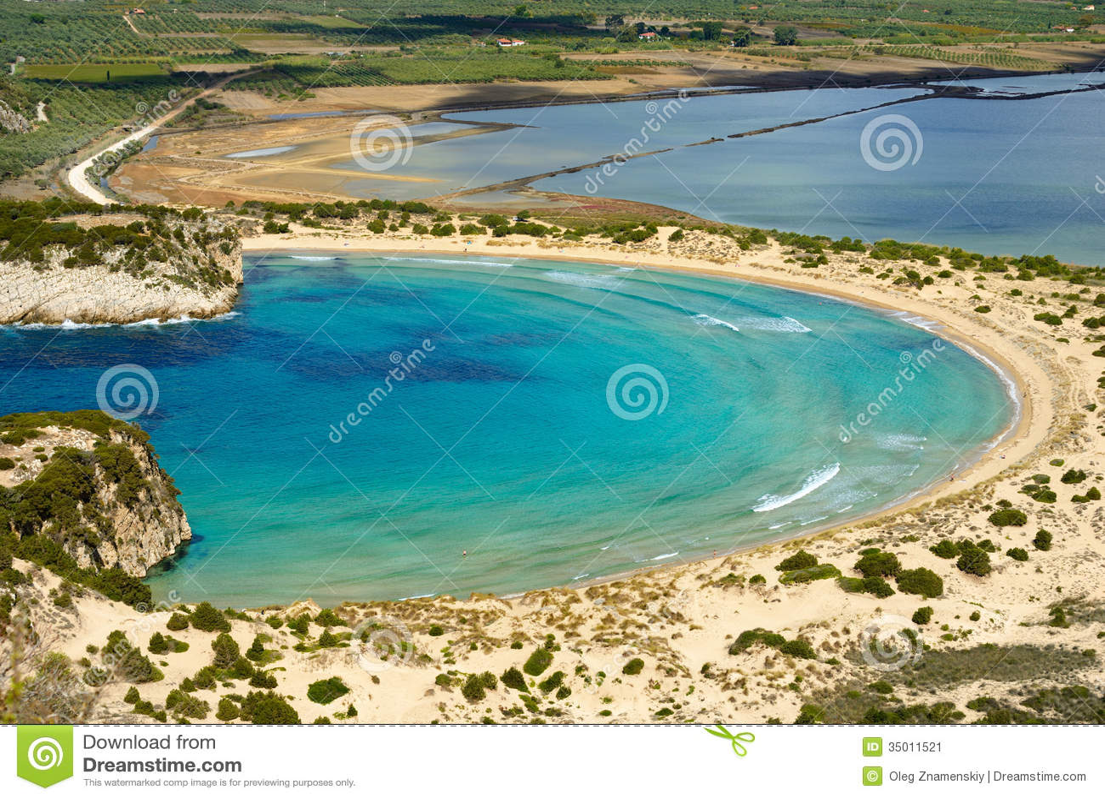Voidokilia, paysage de Messine, Grèce