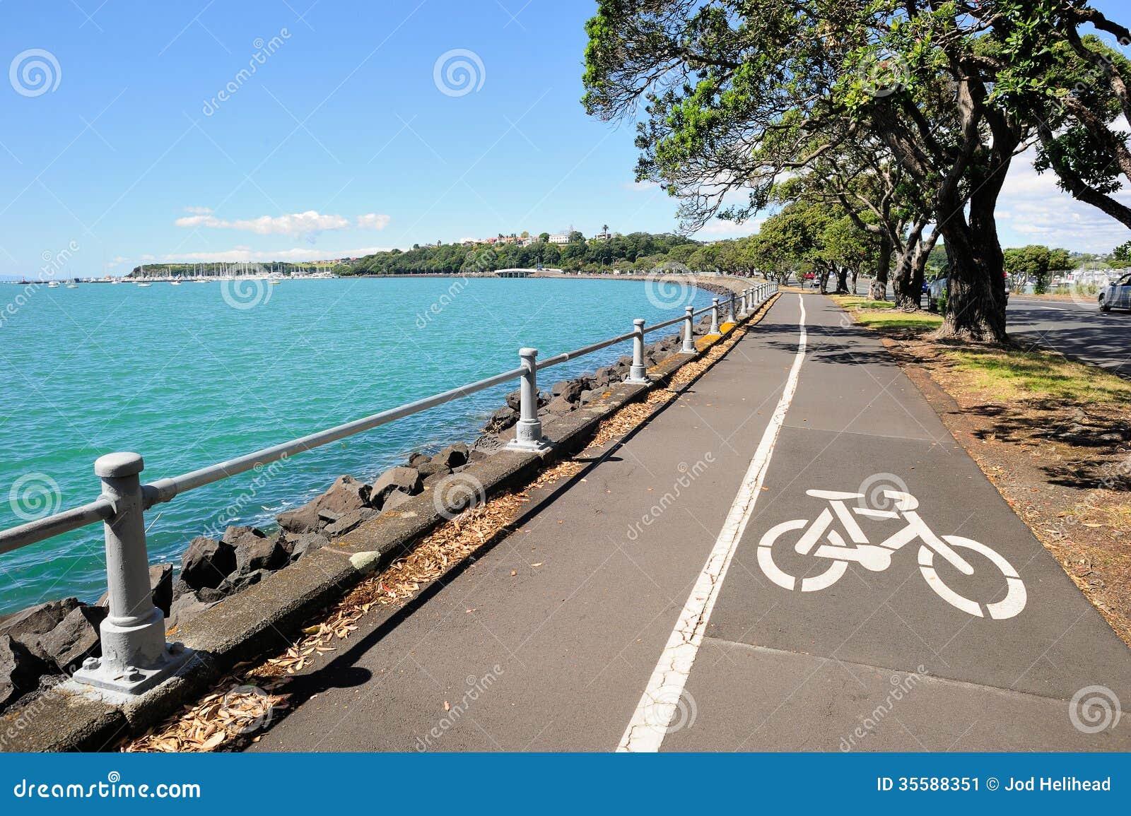 Voie pour bicyclettes à Auckland, Nouvelle-Zélande