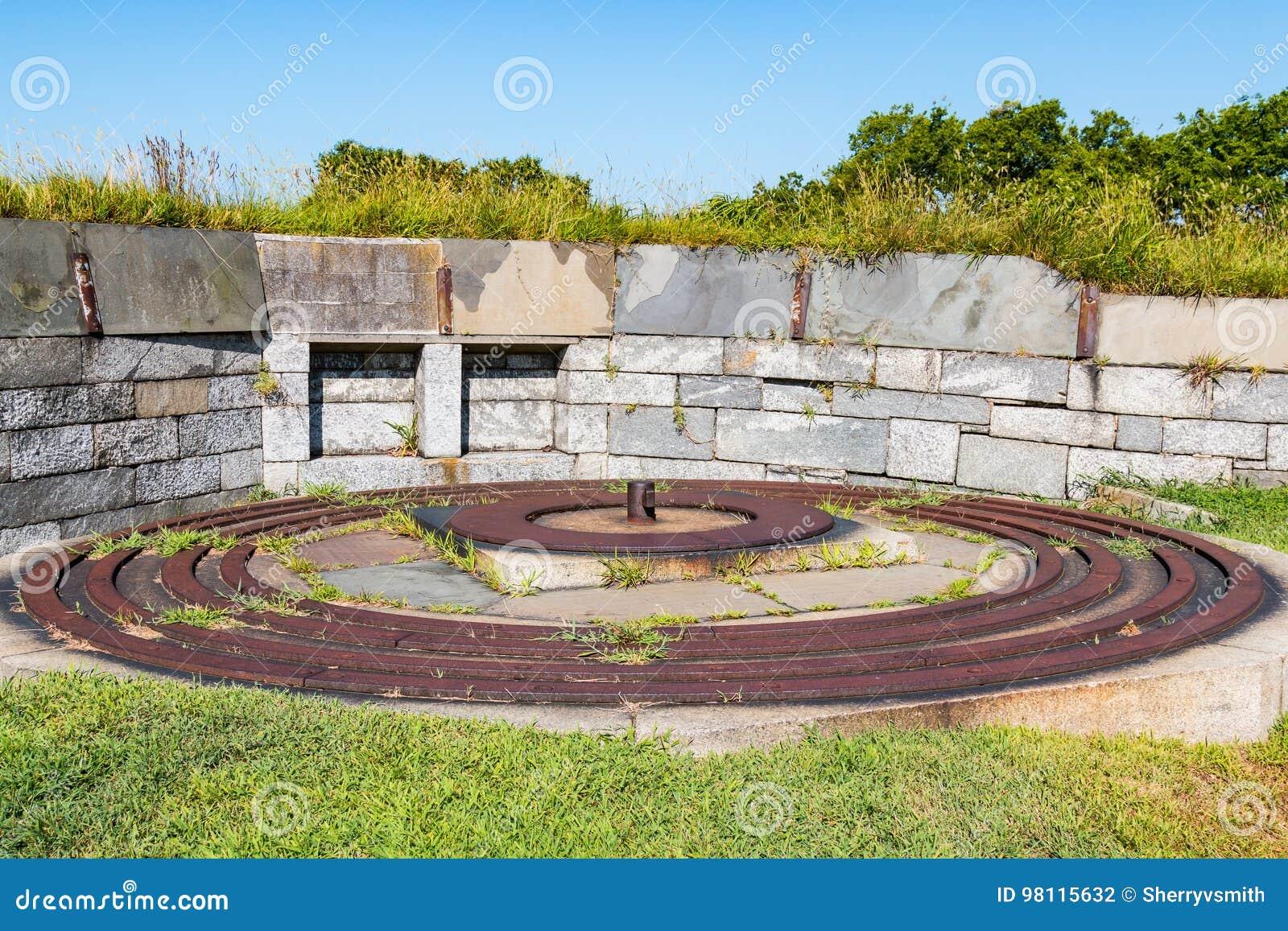 Voies de fer pour 15-Inch Rodman Gun chez Fort Monroe