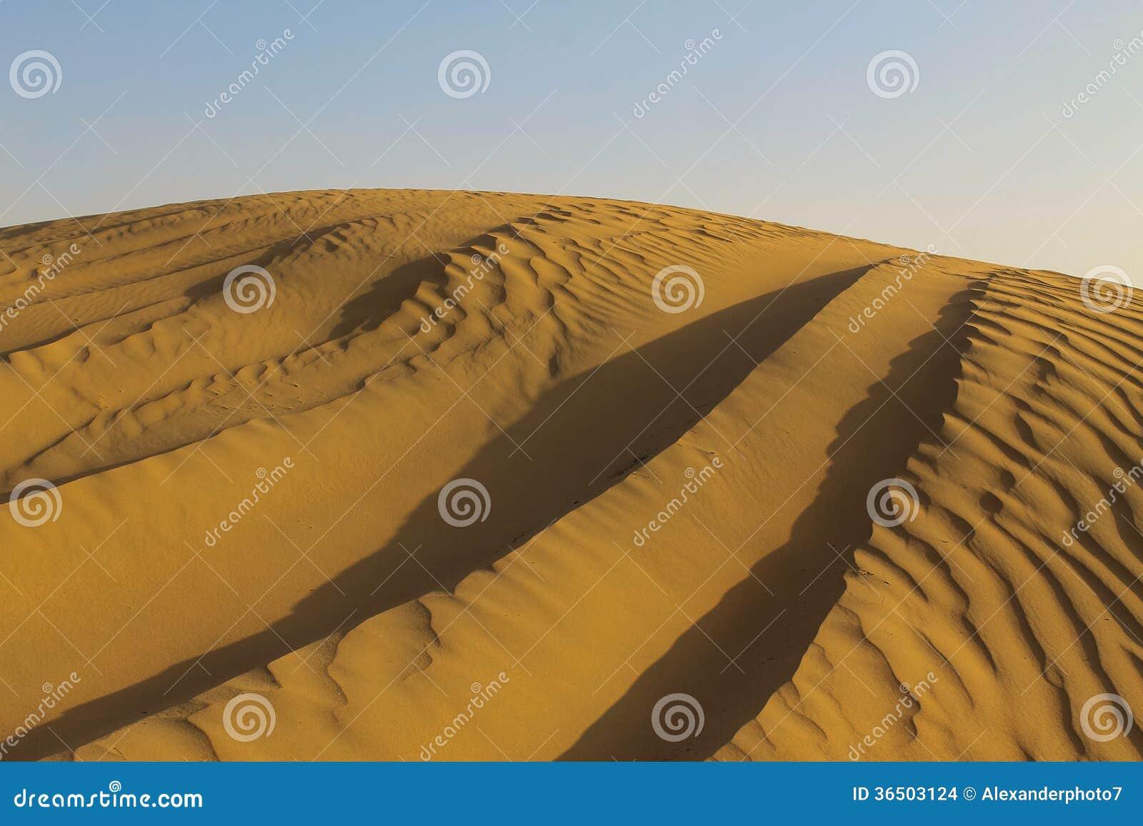 Voies de jeep dans les dunes de Dubaï