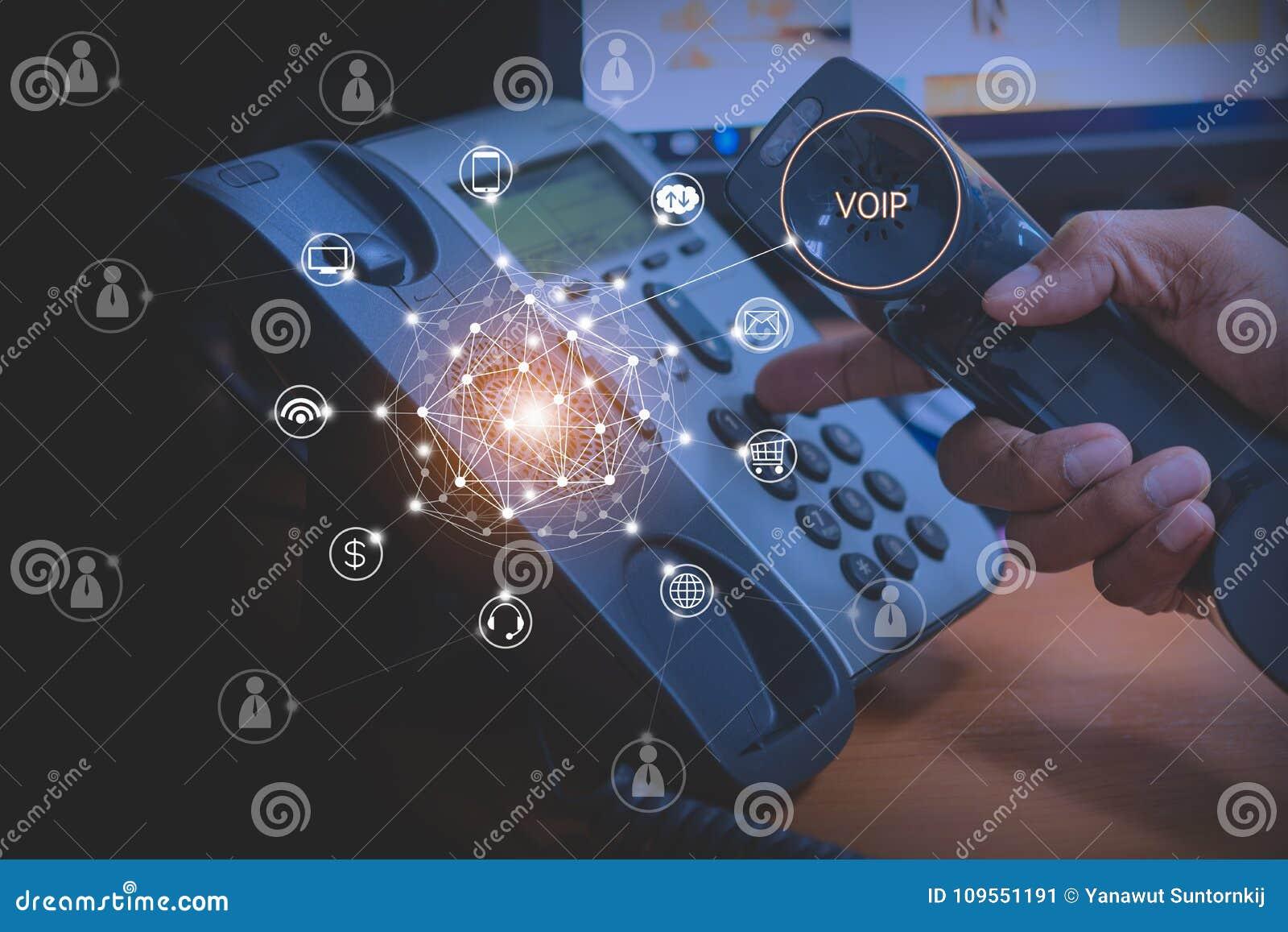 Voip och telekommunikationbegrepp