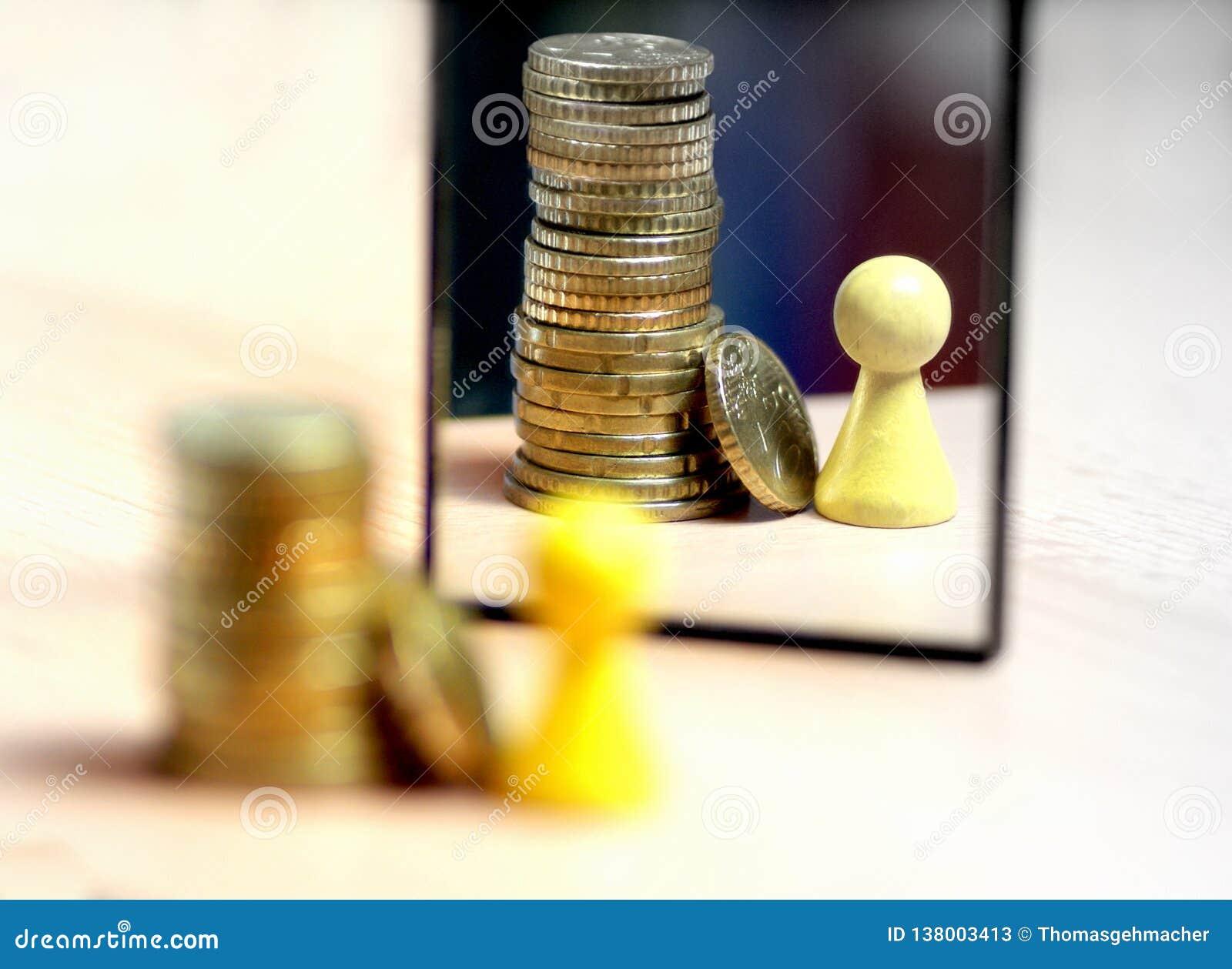 Voir bien plus d argent dans le miroir