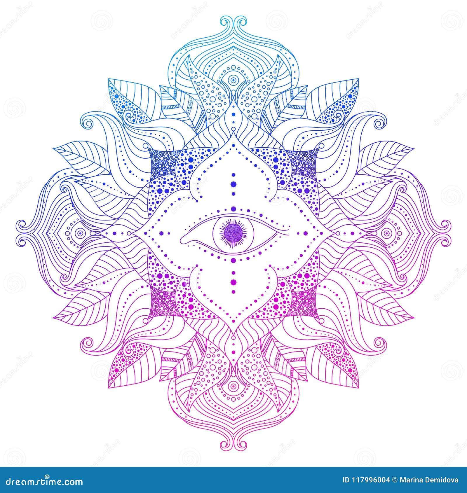 Voir l oeil dans le mandala