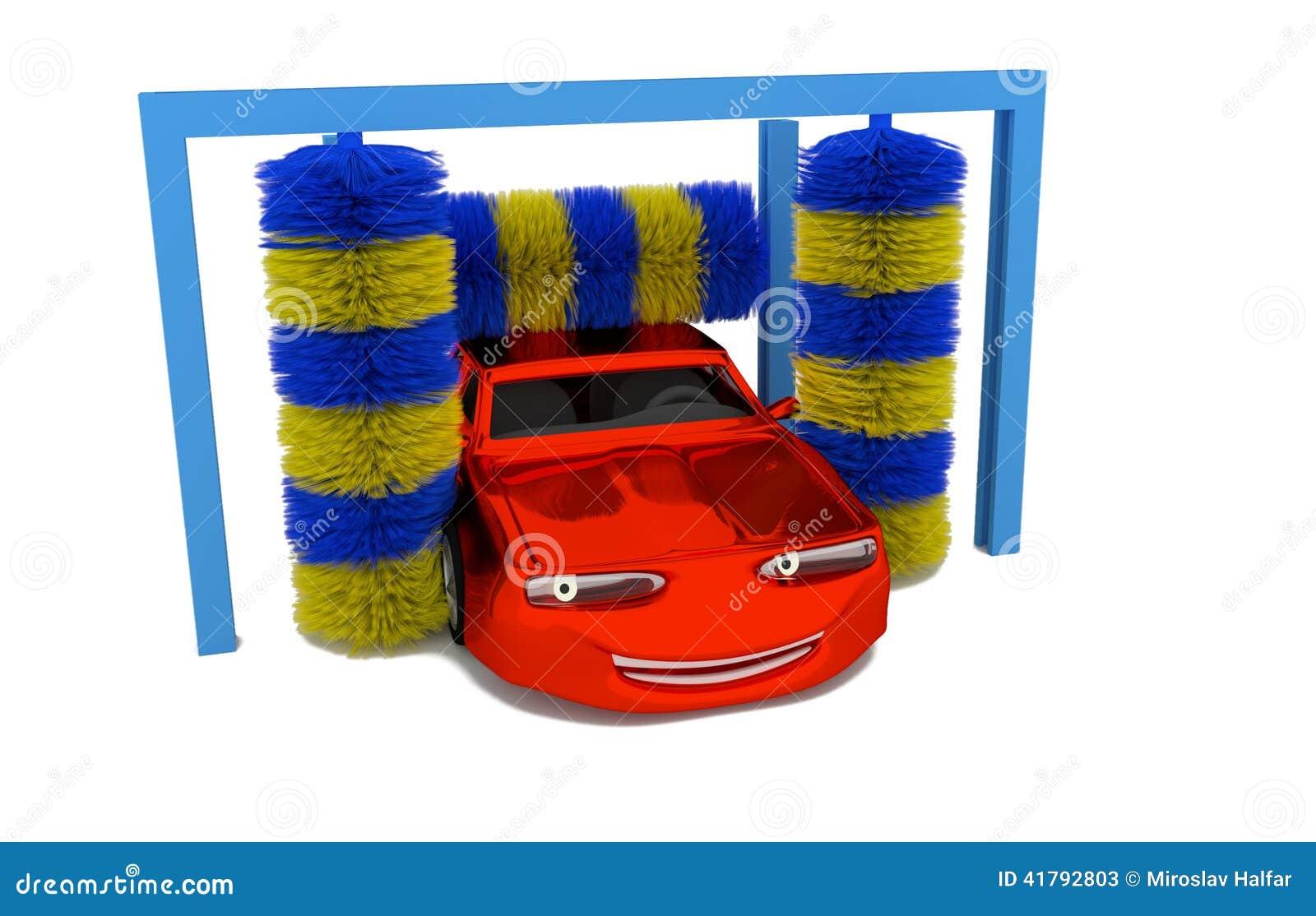 Voiture l 39 int rieur d 39 une station de lavage illustration for Lavage auto interieur