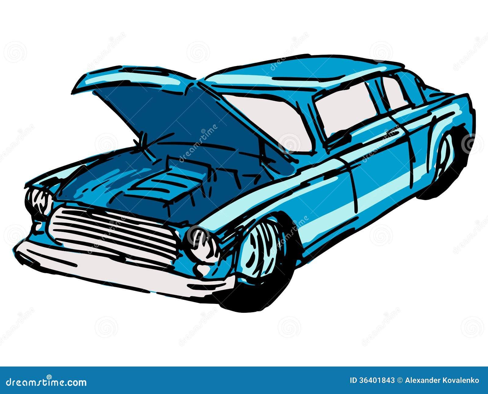 voiture avec le capot ouvert illustration de vecteur image 36401843. Black Bedroom Furniture Sets. Home Design Ideas