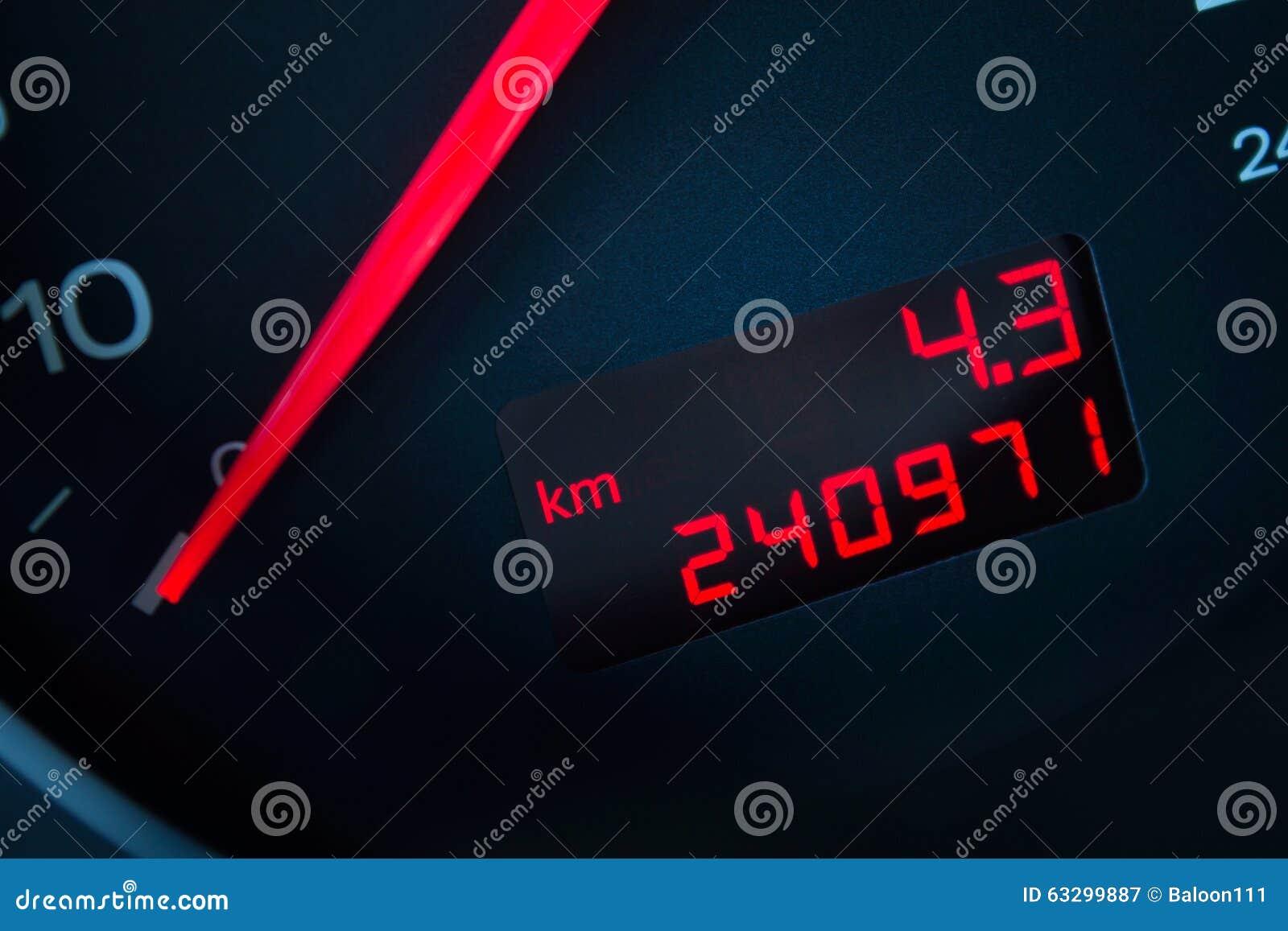 Voiture avec un kilomètrage élevé