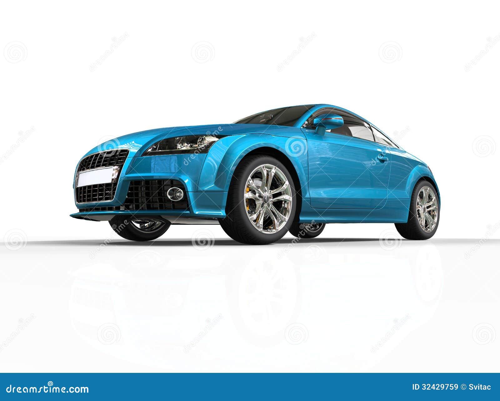 voiture bleue lumineuse d 39 affaires sur le fond blanc images libres de droits image 32429759. Black Bedroom Furniture Sets. Home Design Ideas