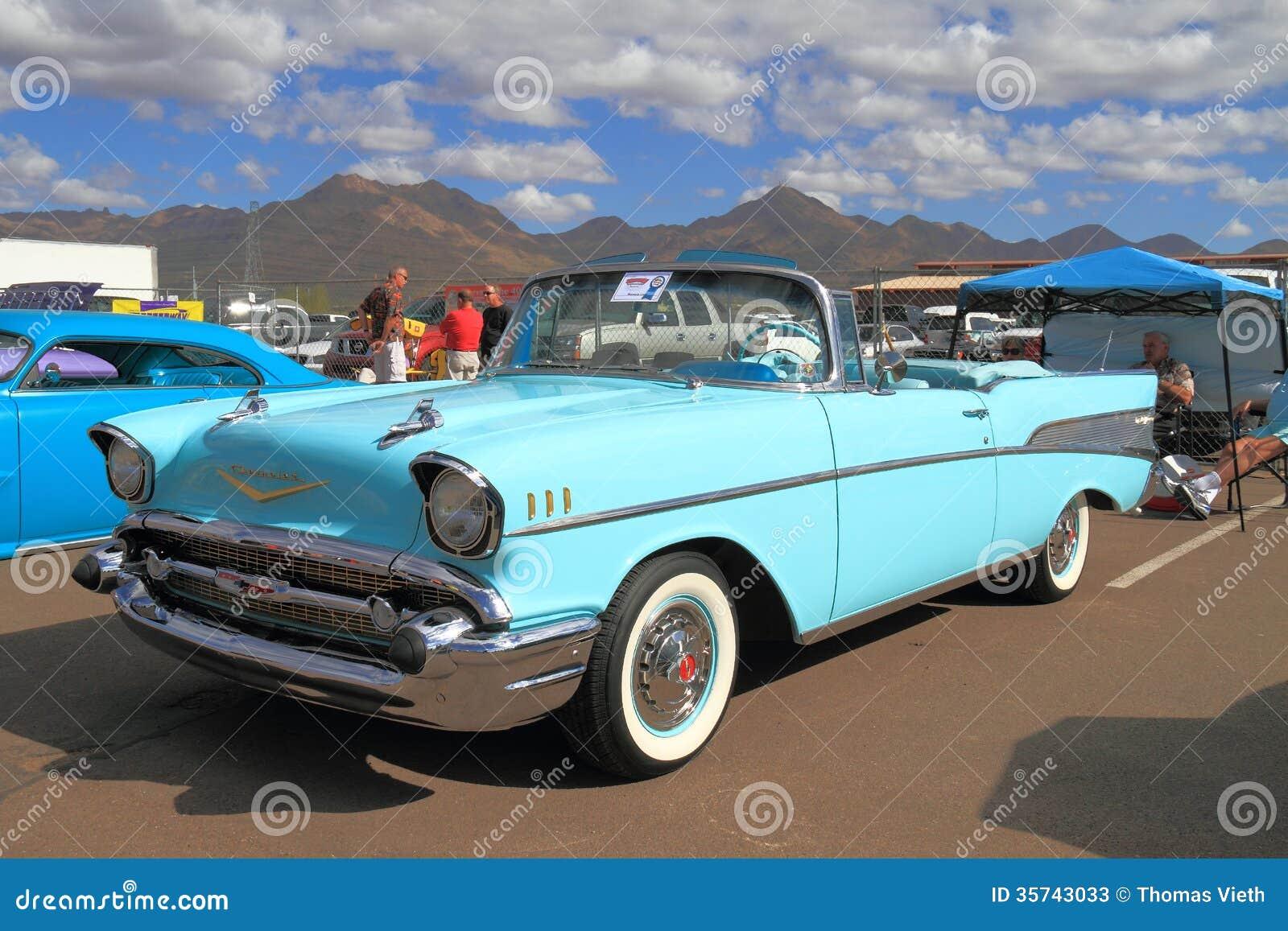 Voiture Classique Chevrolet 1957 Bel Air Photo Stock