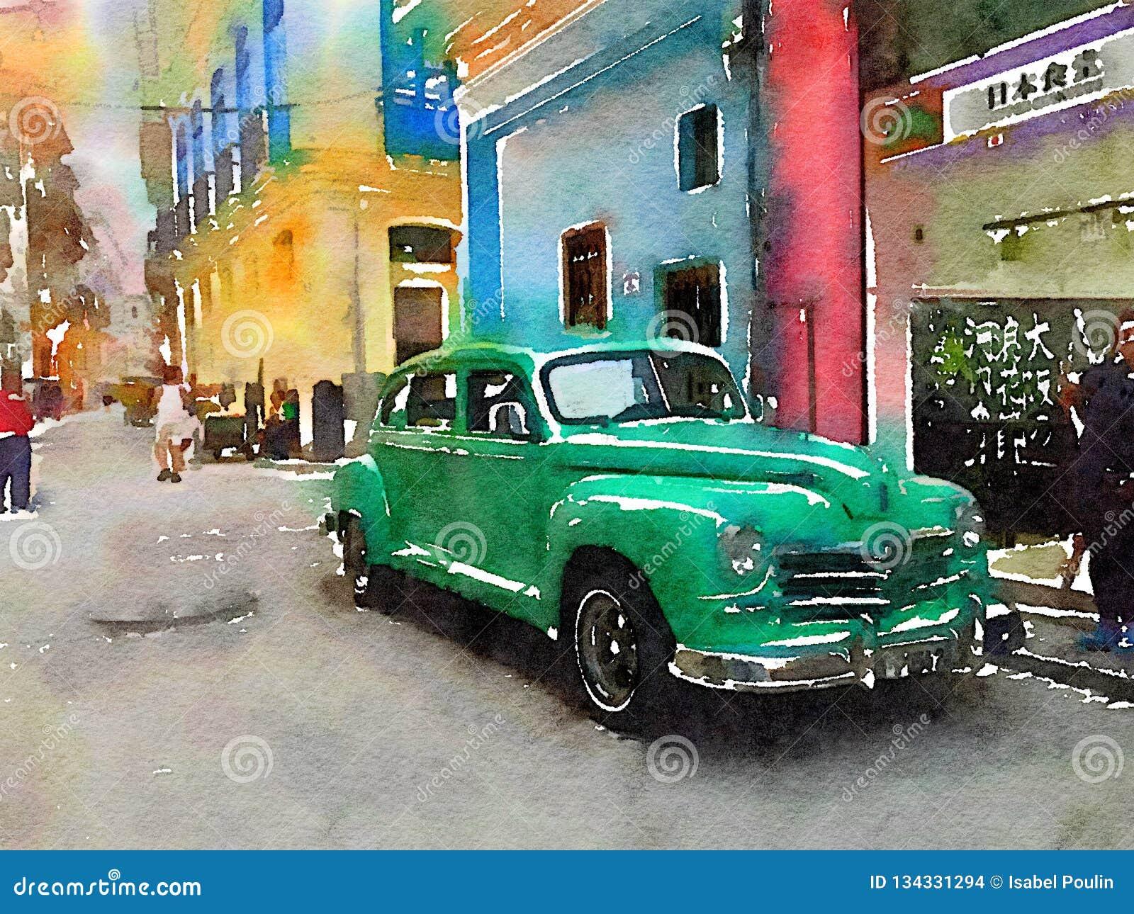 Voiture classique de cru à La Havane