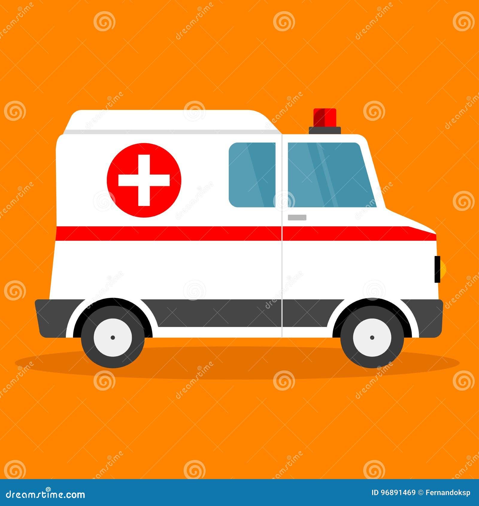 Voiture d ambulance d illustration de vecteur