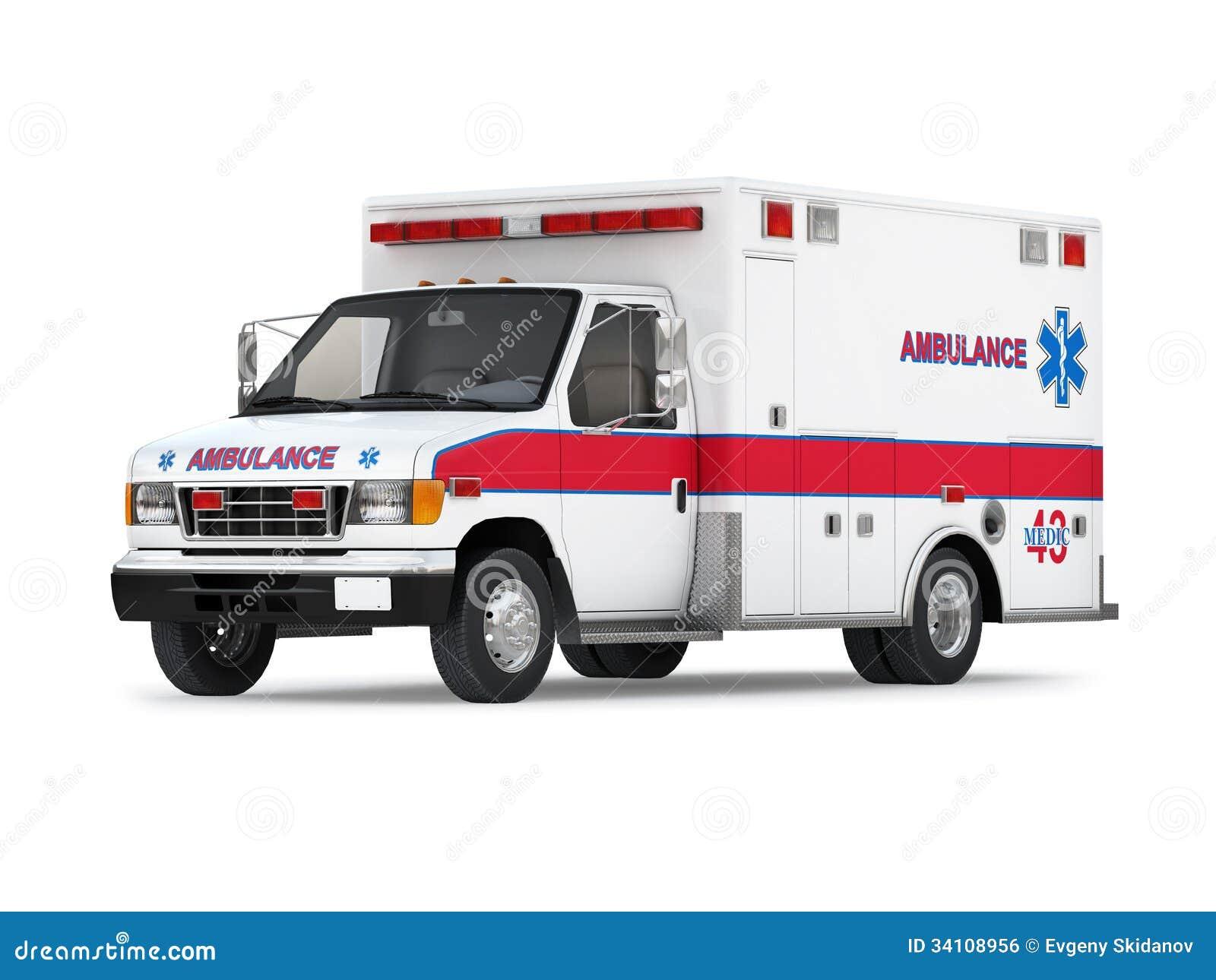 voiture d 39 ambulance sur le fond blanc vue de perspective illustration stock illustration du. Black Bedroom Furniture Sets. Home Design Ideas