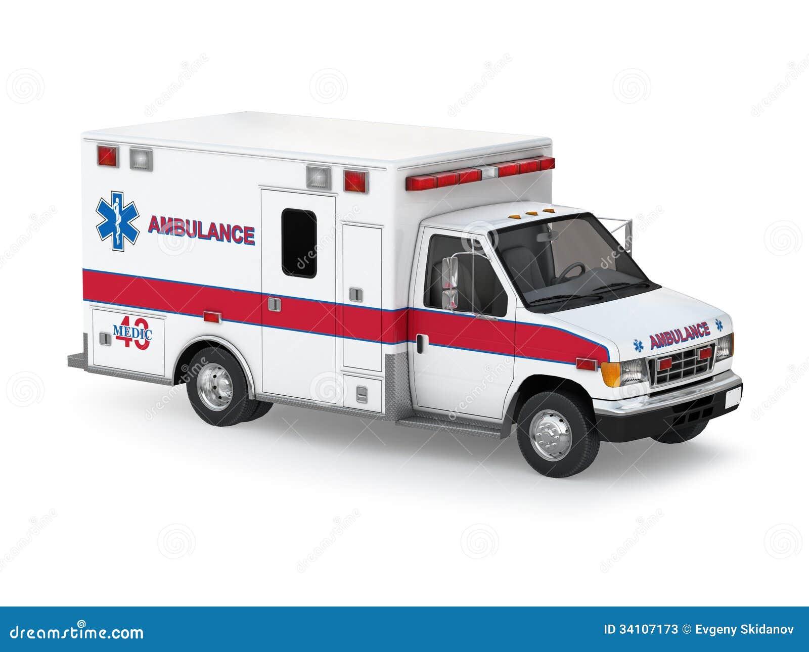 voiture d 39 ambulance sur le fond blanc vue sup rieure de perspective illustration stock. Black Bedroom Furniture Sets. Home Design Ideas
