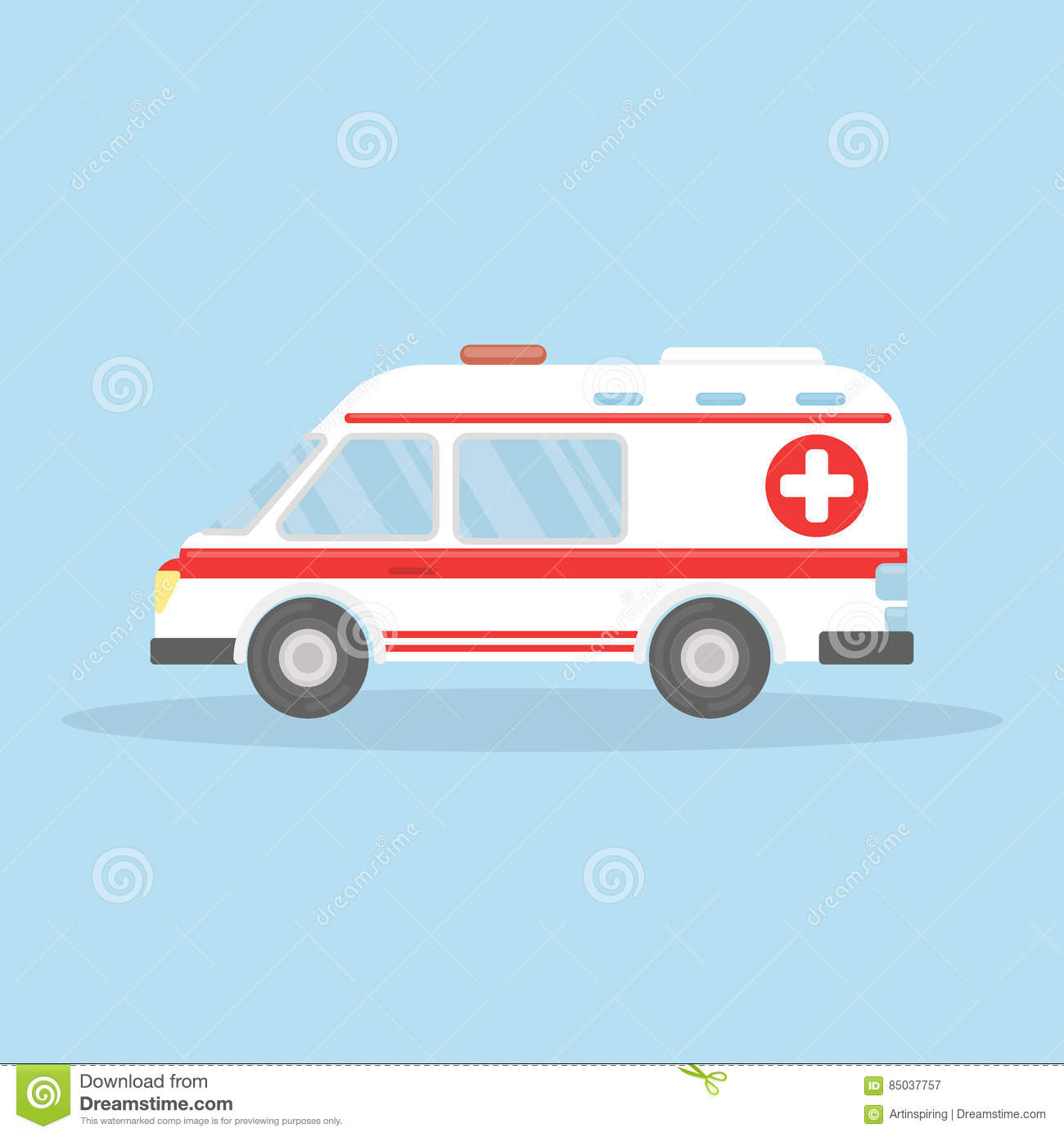 Voiture d isolement d ambulance