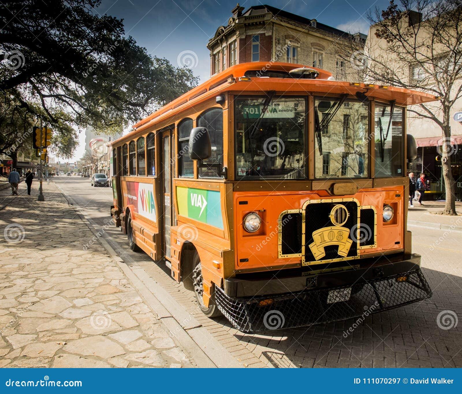 Voiture de chariot à San Antonio du centre