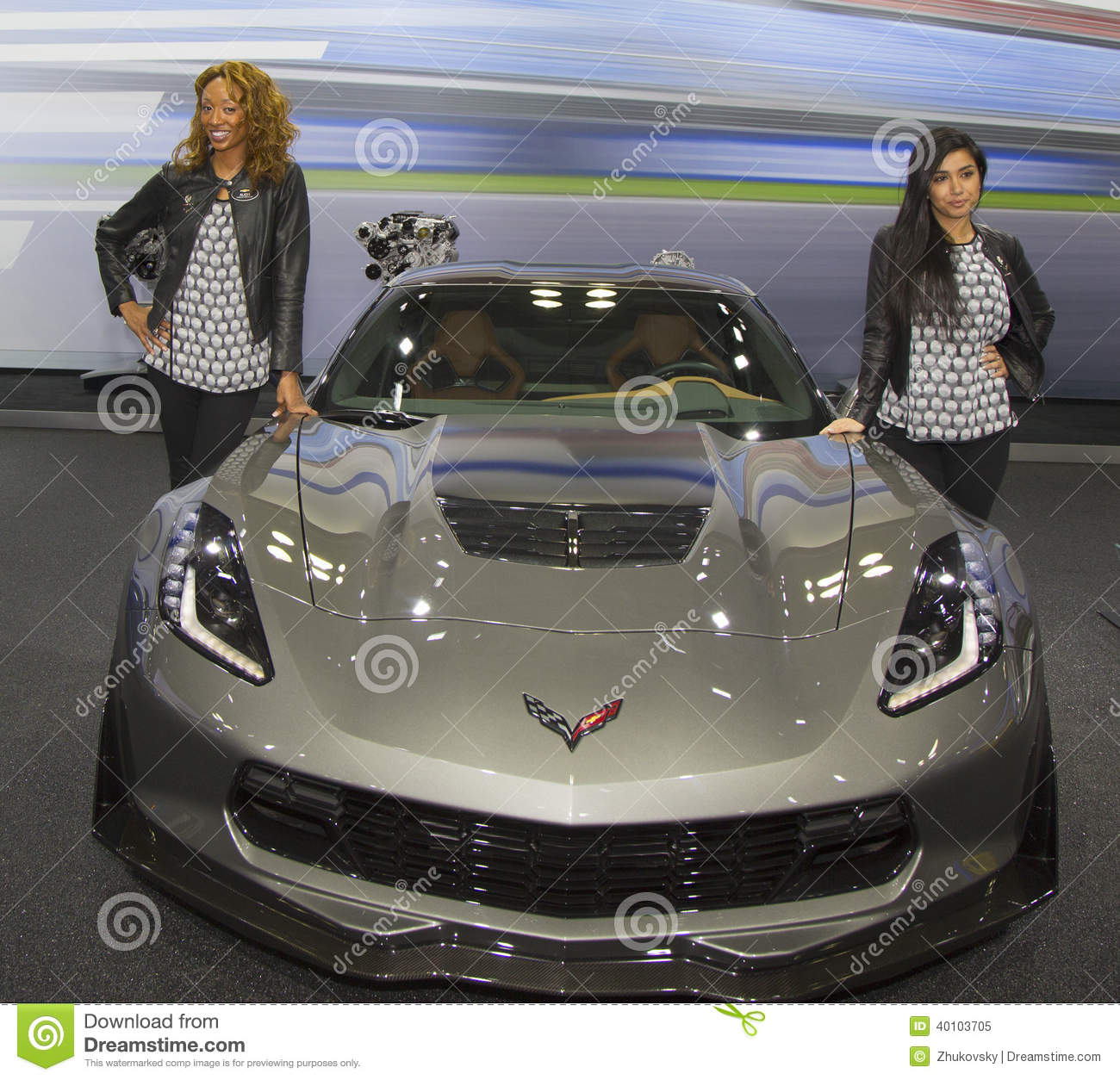 voiture 2015 de chevrolet corvette z06 au salon de l 39 auto 2014 d 39 international de new york image. Black Bedroom Furniture Sets. Home Design Ideas