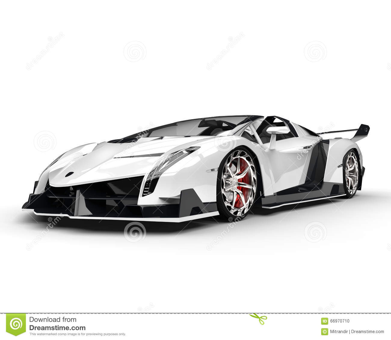 Voiture de course blanche tir de studio illustration stock illustration du v hicule - Image voiture de course ...
