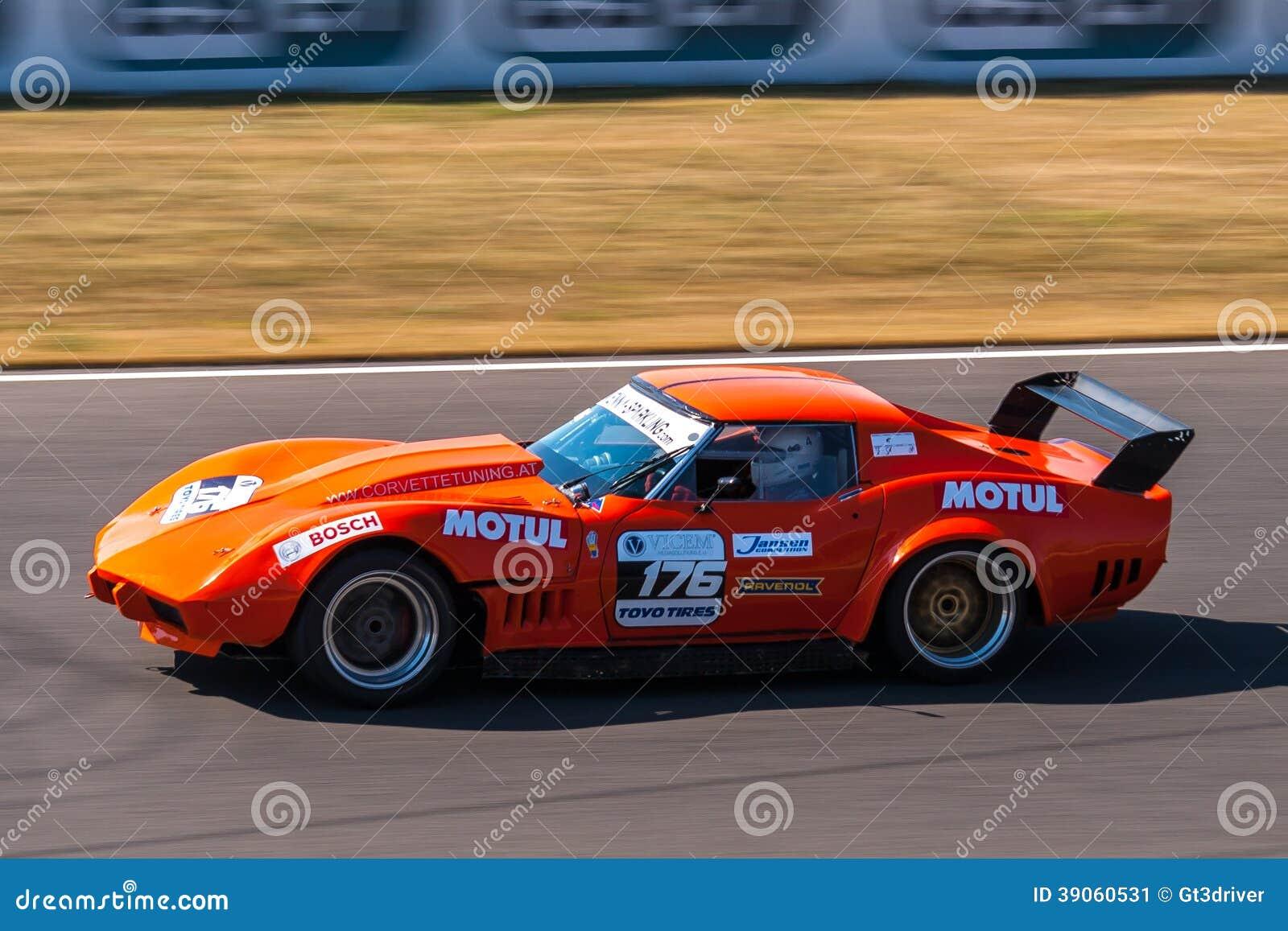 Voiture De Course Classique De Chevrolet Corvette Photo