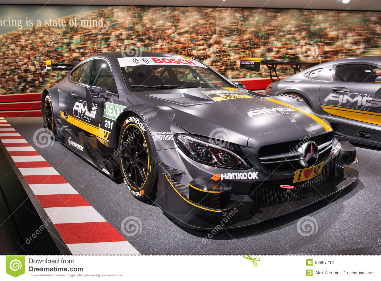 voiture de course de mercedes amg dtm photo stock ditorial image 59967713. Black Bedroom Furniture Sets. Home Design Ideas
