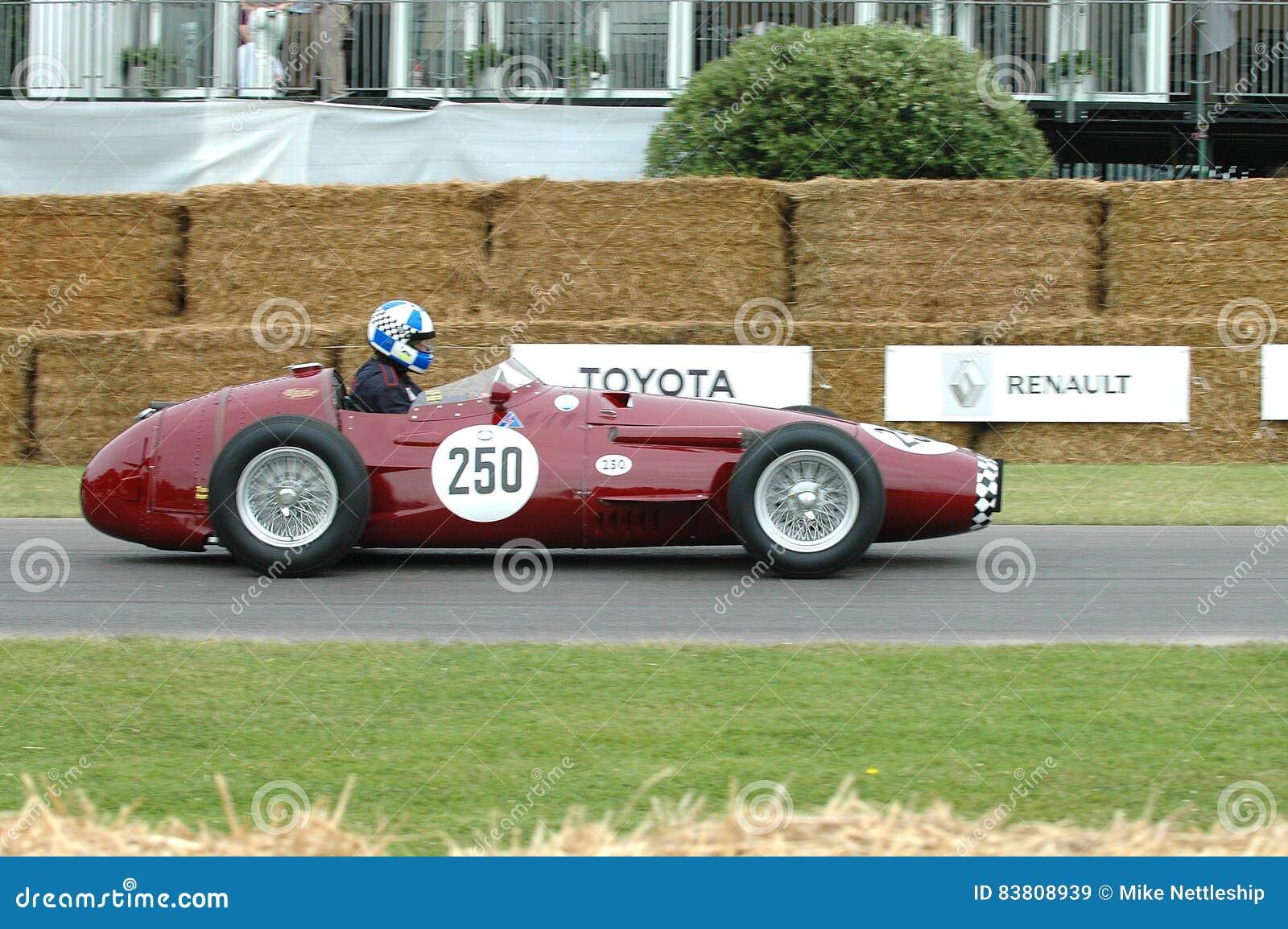Voiture De Course De Veteran De Maserati 250f Image Stock