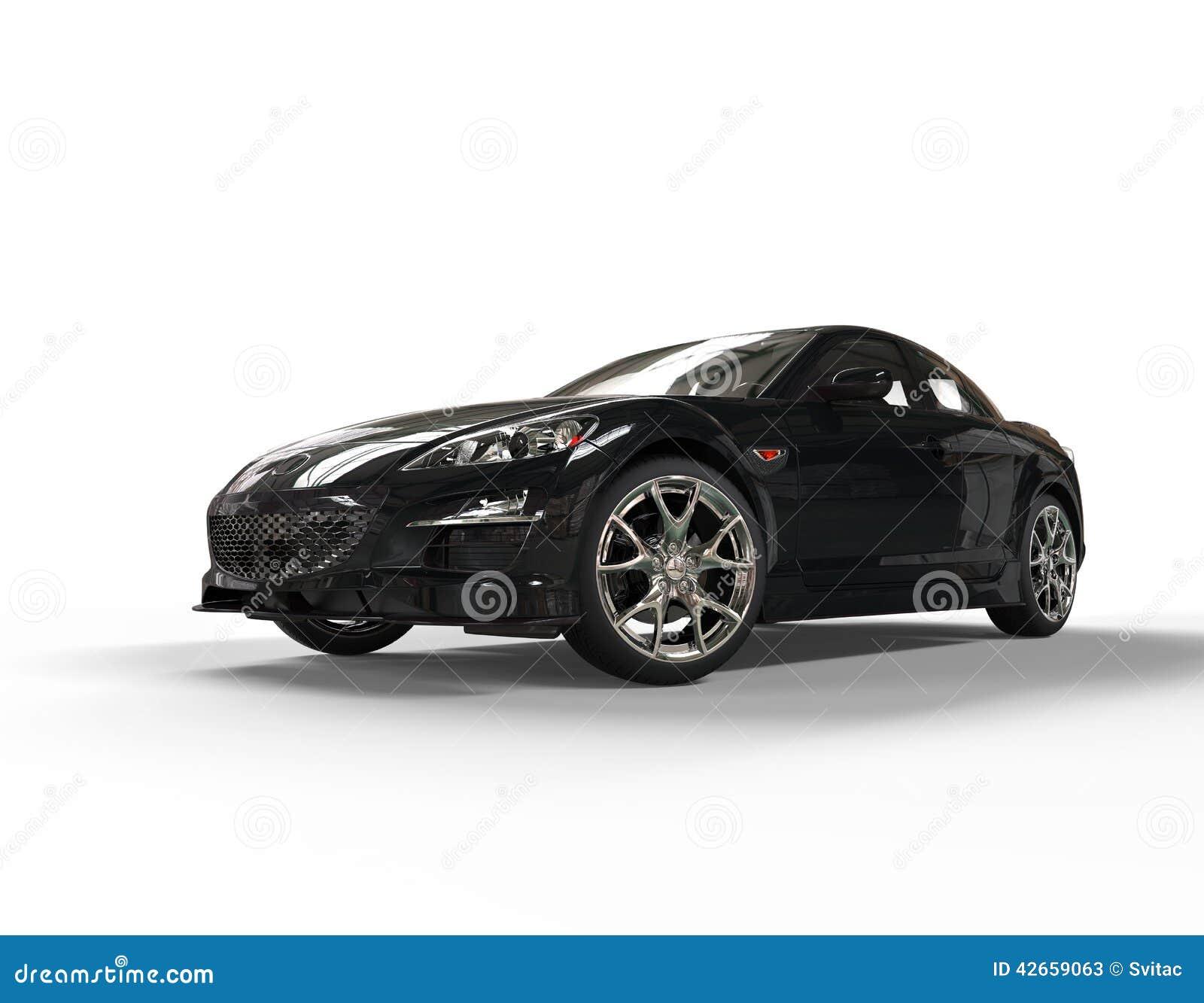 voiture de course moderne noire sur le fond blanc photos stock inscription gratuite. Black Bedroom Furniture Sets. Home Design Ideas