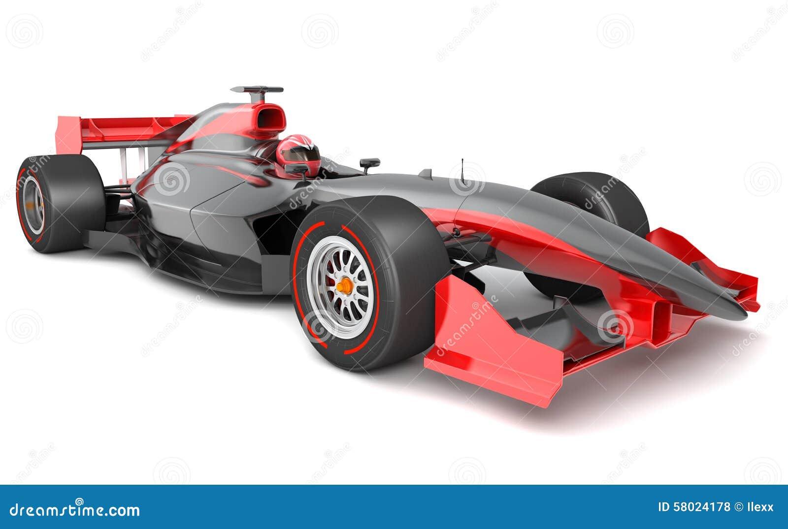 Voiture de course noire et rouge générique