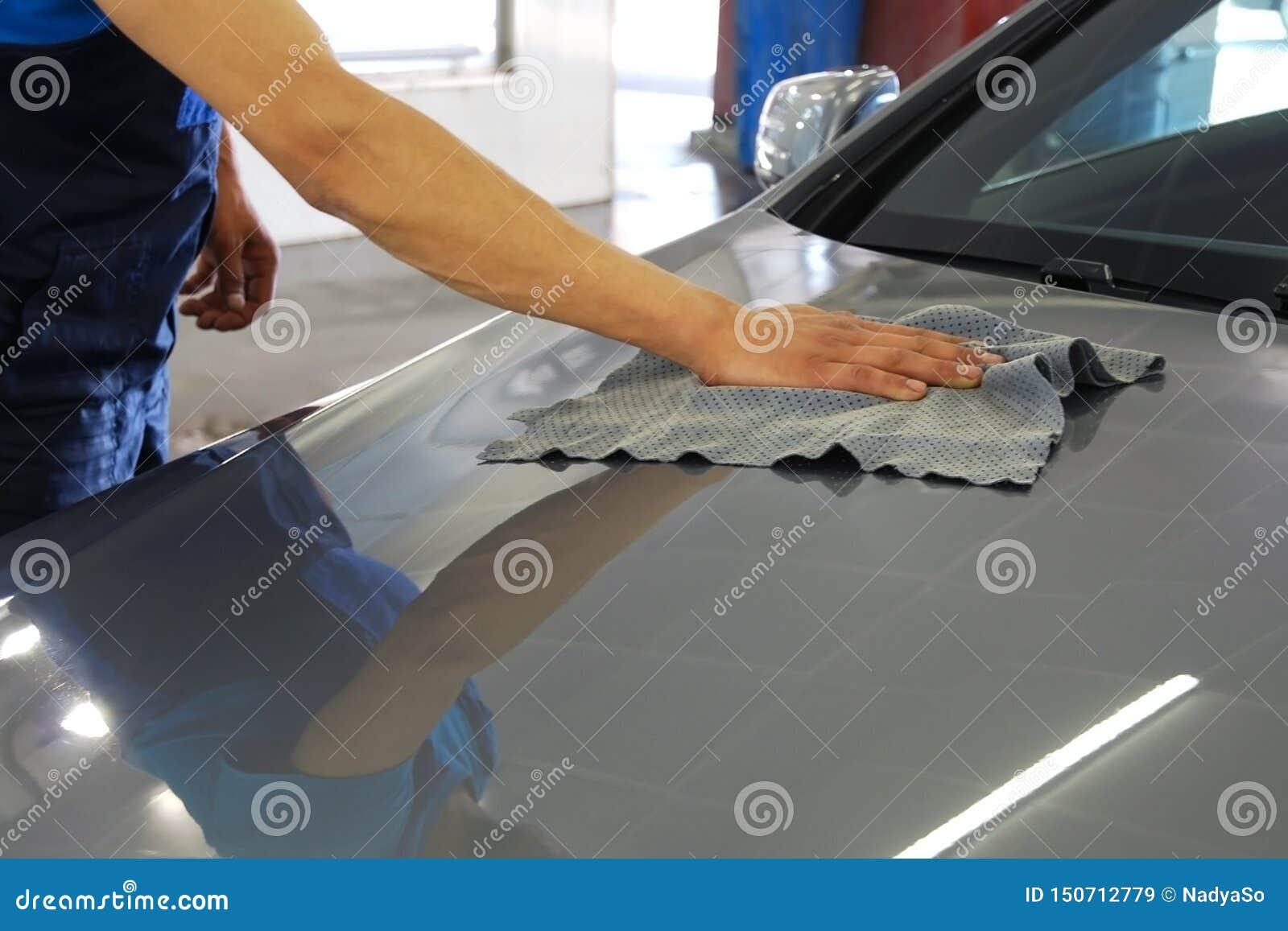 Voiture de essuyage et de polissage de main d homme de joint de voiture
