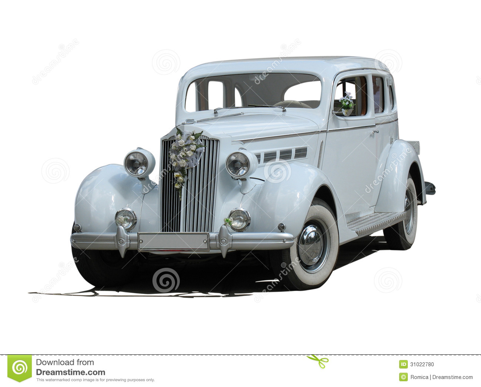 photo stock voiture de luxe rCAtro mariage rCAAveur blanc vintage d isolement image