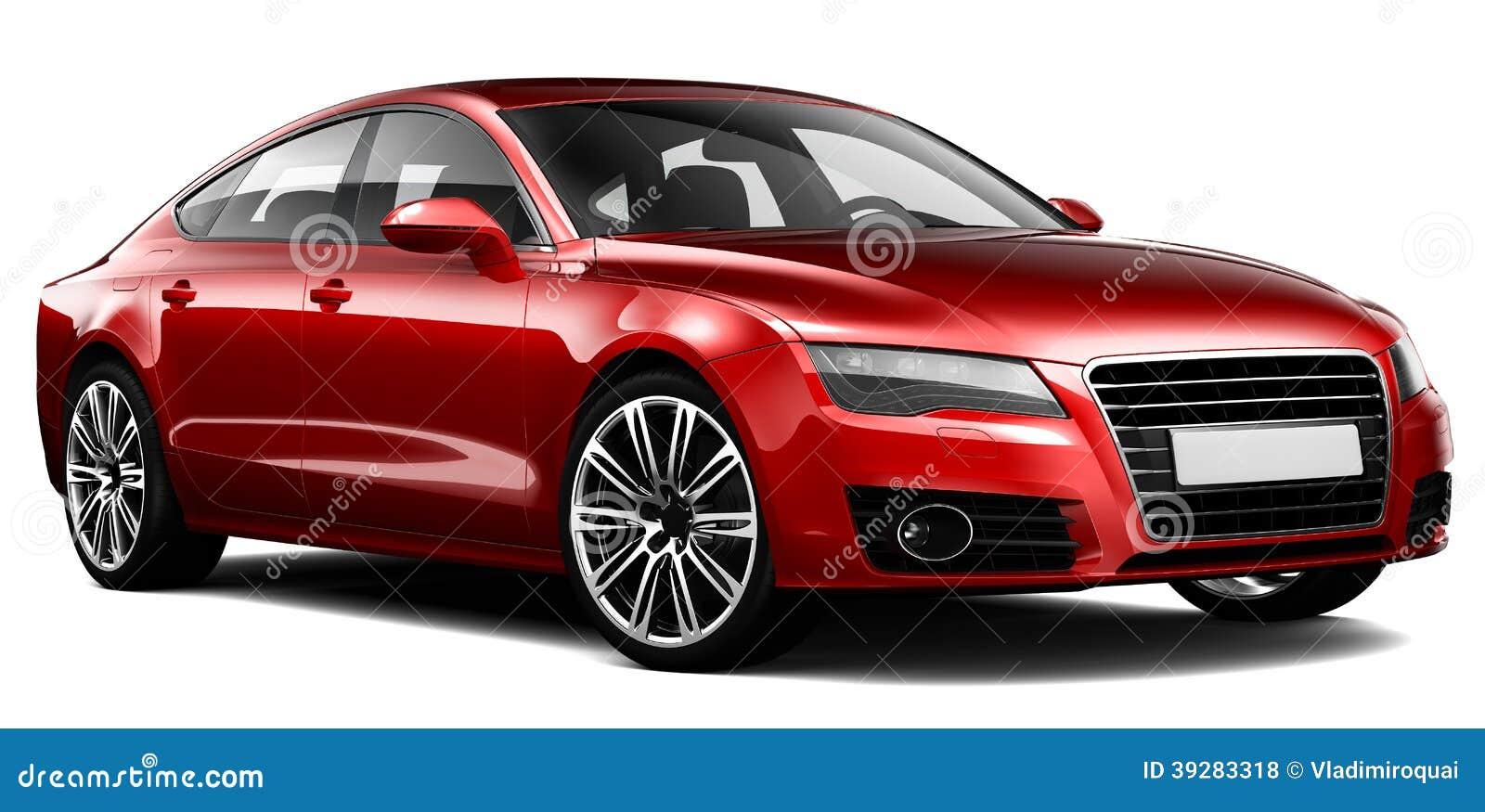 voiture de luxe rouge illustration stock illustration du berline 39283318. Black Bedroom Furniture Sets. Home Design Ideas