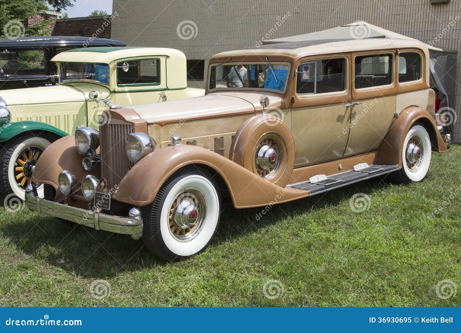 voiture 1934 de model de packard d 39 or 1108 image ditorial image du antiquit coupe 36930695. Black Bedroom Furniture Sets. Home Design Ideas