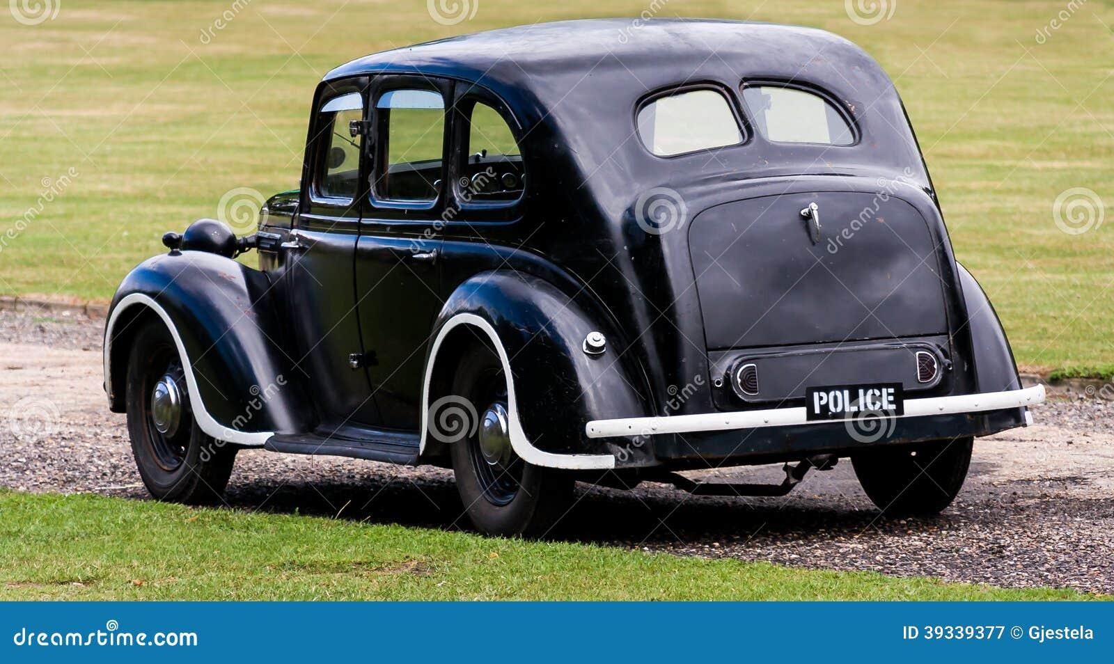 voiture de police anglaise de vintage photo stock image 39339377. Black Bedroom Furniture Sets. Home Design Ideas