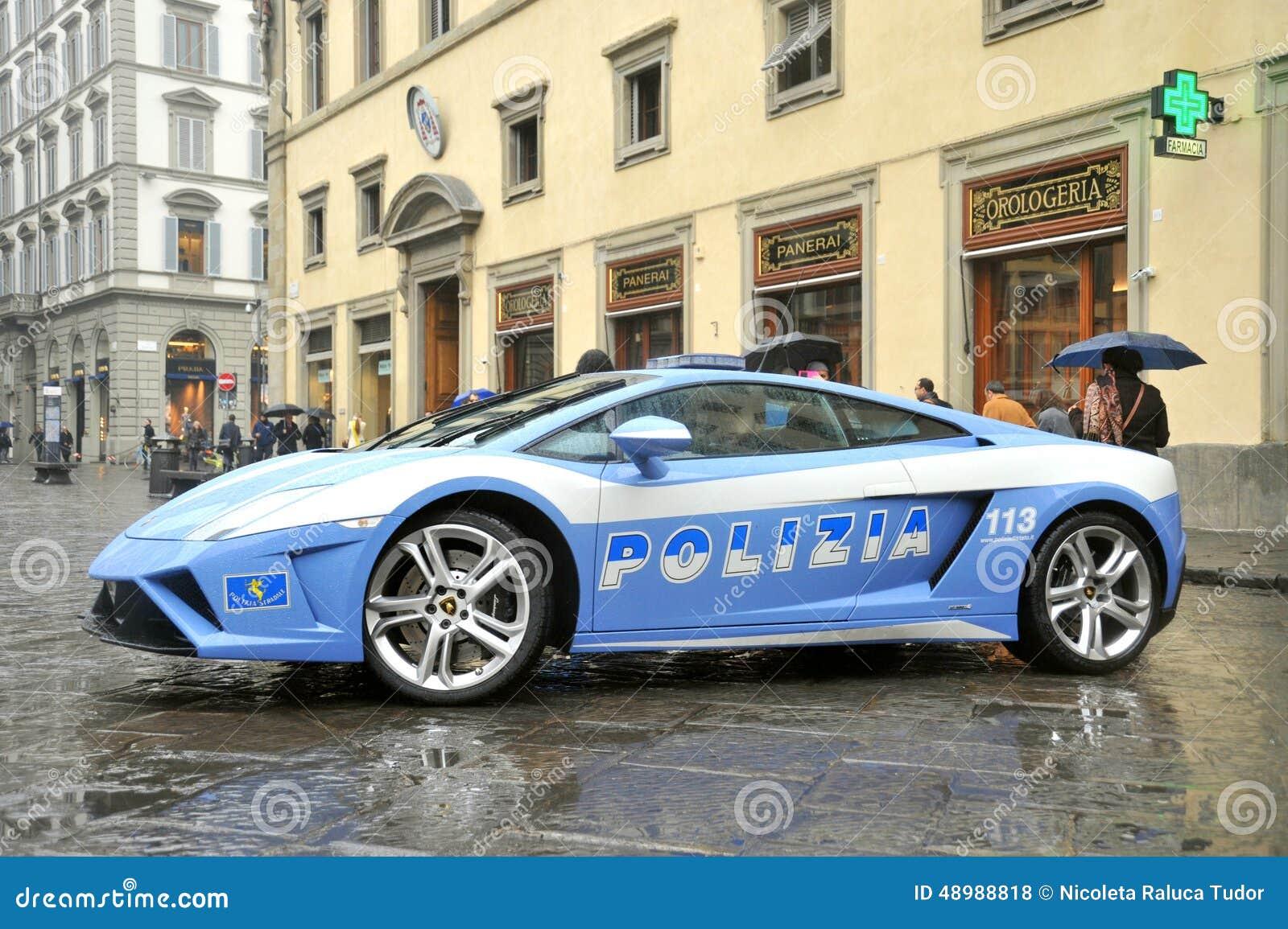 voiture de police de luxe de lamborghini florence italie photo stock ditorial image 48988818. Black Bedroom Furniture Sets. Home Design Ideas