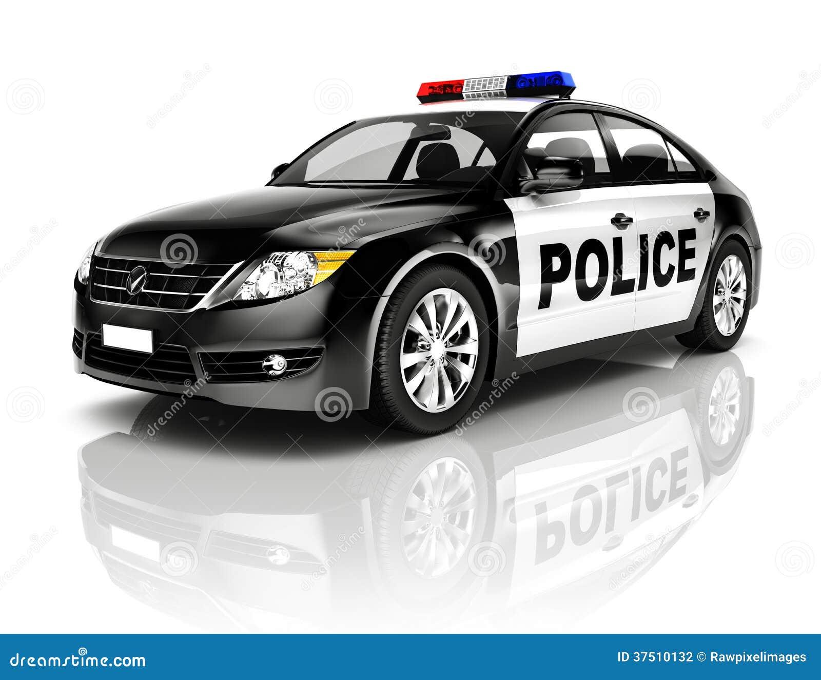 voiture de police du noir 3d sur le fond blanc photographie stock image 37510132. Black Bedroom Furniture Sets. Home Design Ideas