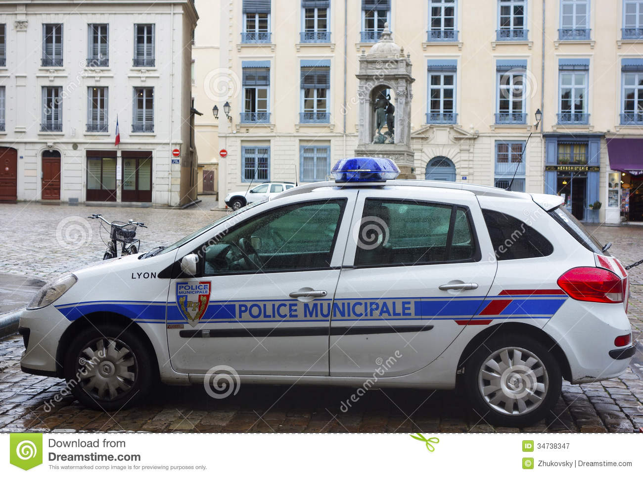 voiture de police locale lyon france photographie. Black Bedroom Furniture Sets. Home Design Ideas