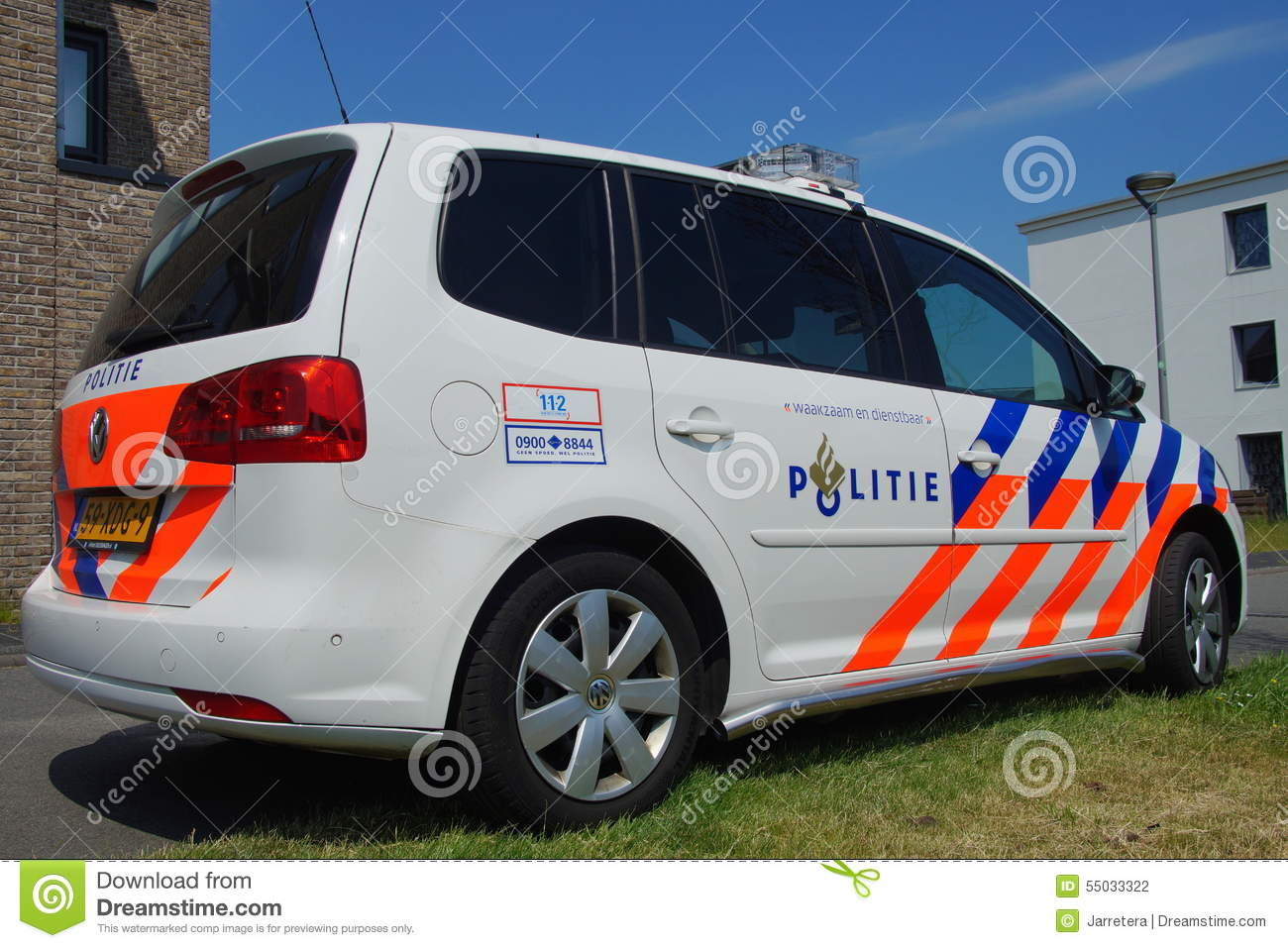 voiture de police n erlandaise volkswagen touran politie de nationale photographie ditorial. Black Bedroom Furniture Sets. Home Design Ideas