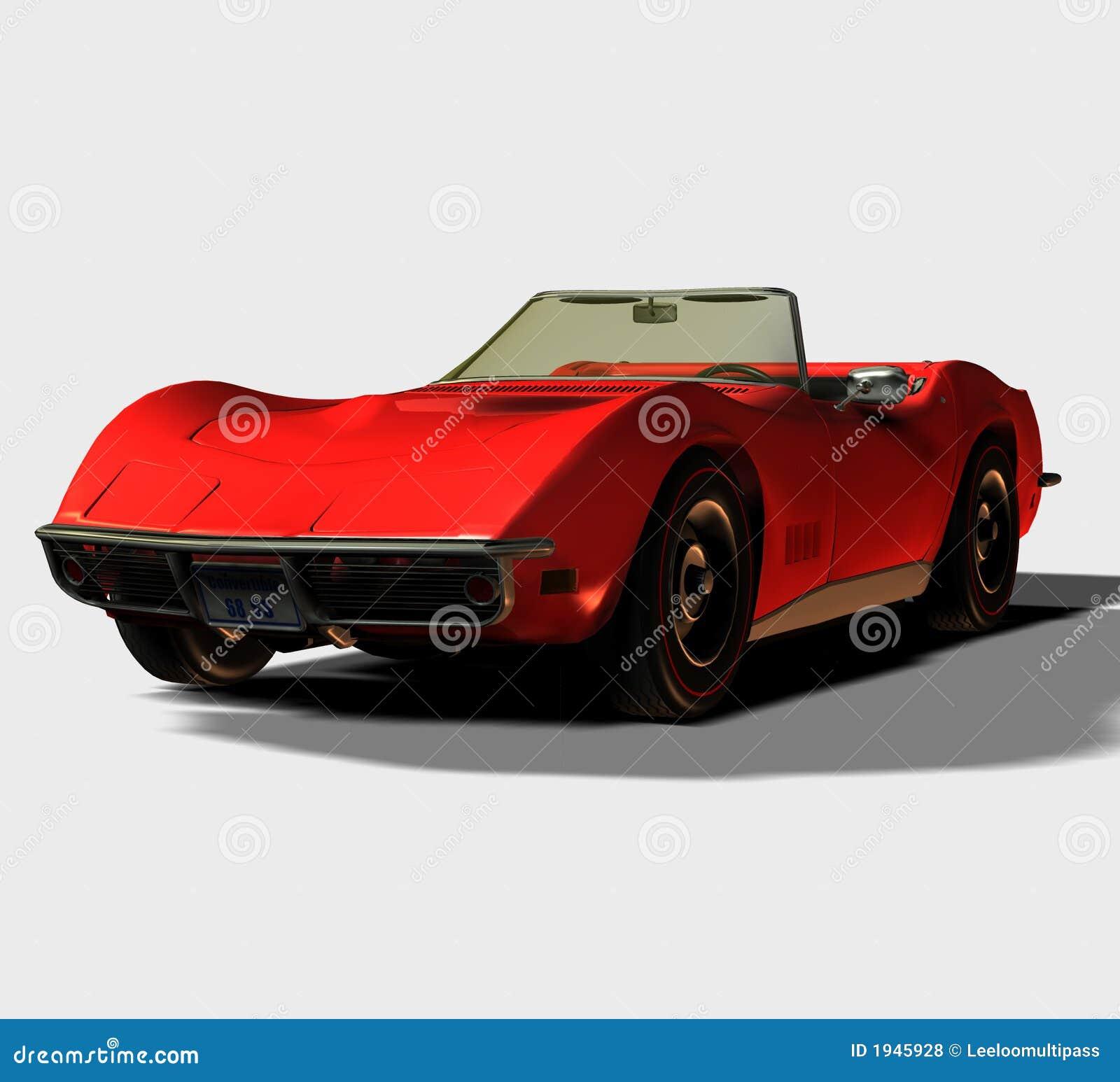voiture de sport 1968 convertible illustration stock illustration du chemin pose 1945928. Black Bedroom Furniture Sets. Home Design Ideas