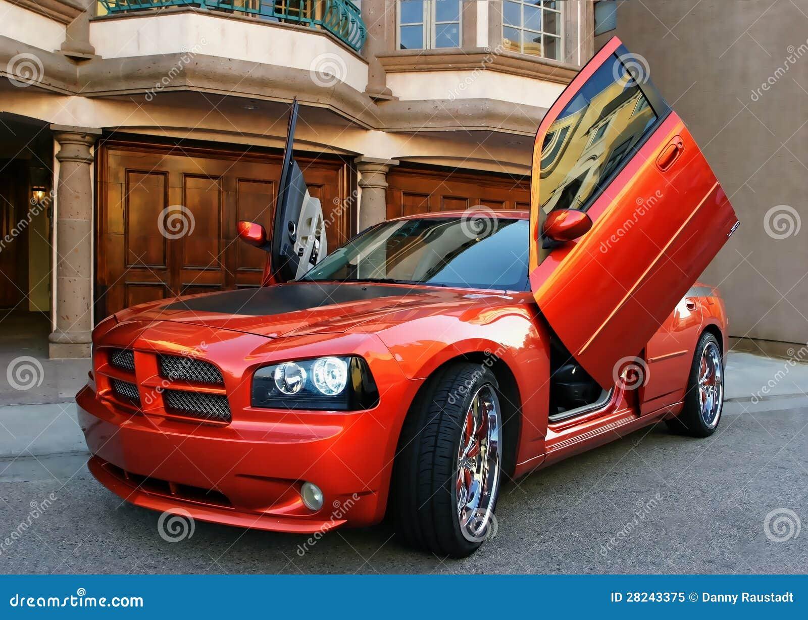 voiture de sport am ricaine rouge image stock image du am rique lecteurs 28243375. Black Bedroom Furniture Sets. Home Design Ideas
