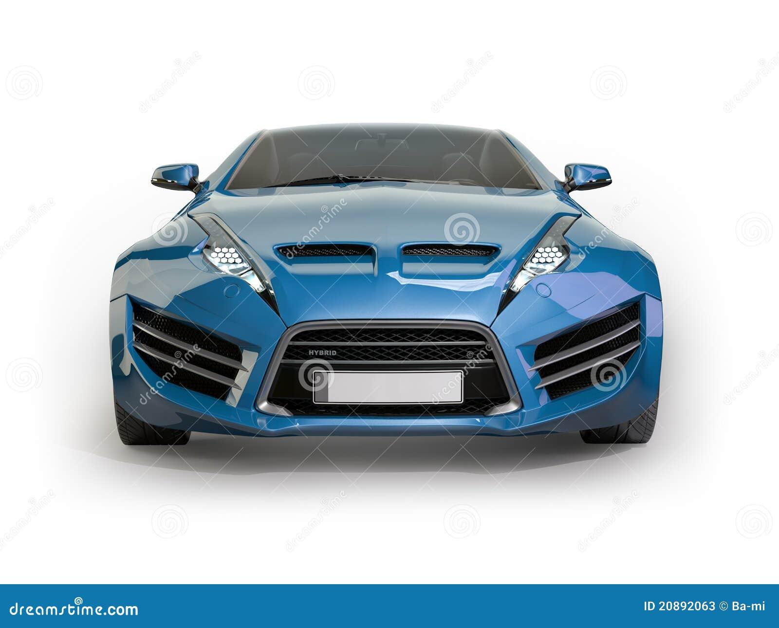 voiture de sport bleue sur un fond blanc illustration stock image 20892063. Black Bedroom Furniture Sets. Home Design Ideas