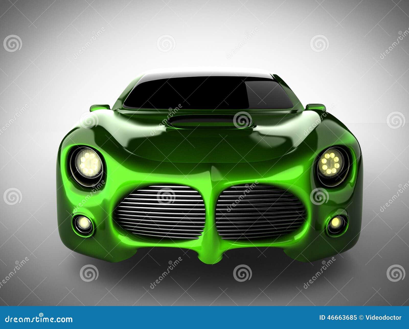 voiture de sport brandless de luxe verte sur le fond blanc illustration stock image 46663685. Black Bedroom Furniture Sets. Home Design Ideas