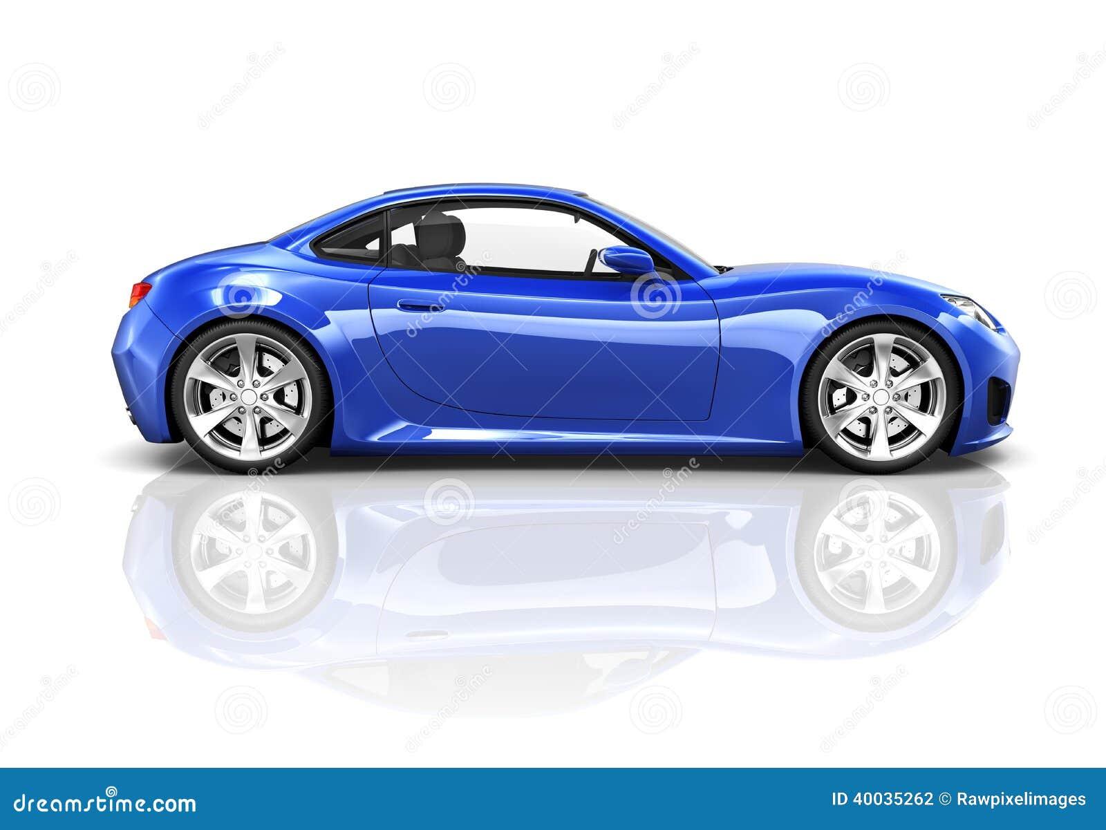 voiture de sport de luxe du bleu 3d photo stock image du lifestyles roadster 40035262. Black Bedroom Furniture Sets. Home Design Ideas
