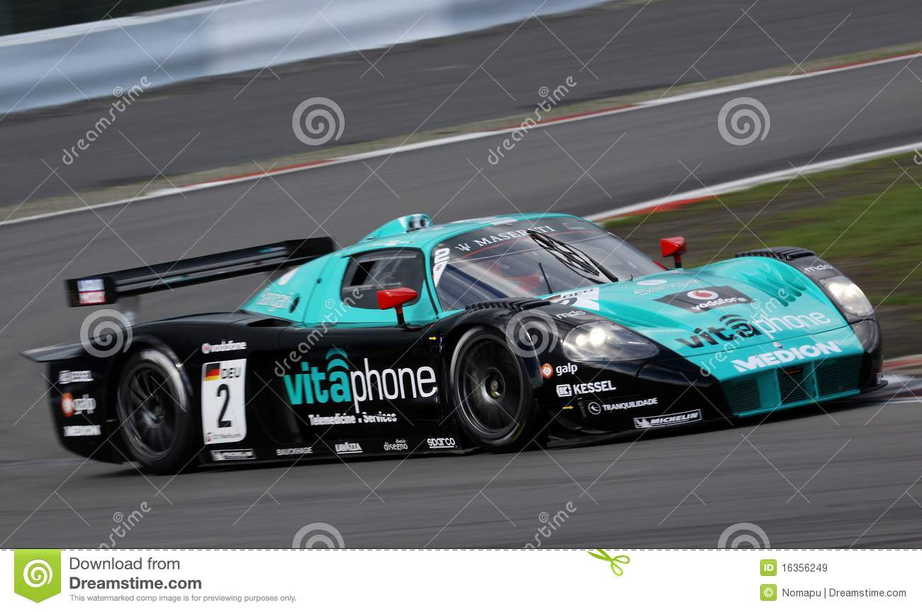 voiture de sport maserati mc12 la fia gt image stock. Black Bedroom Furniture Sets. Home Design Ideas