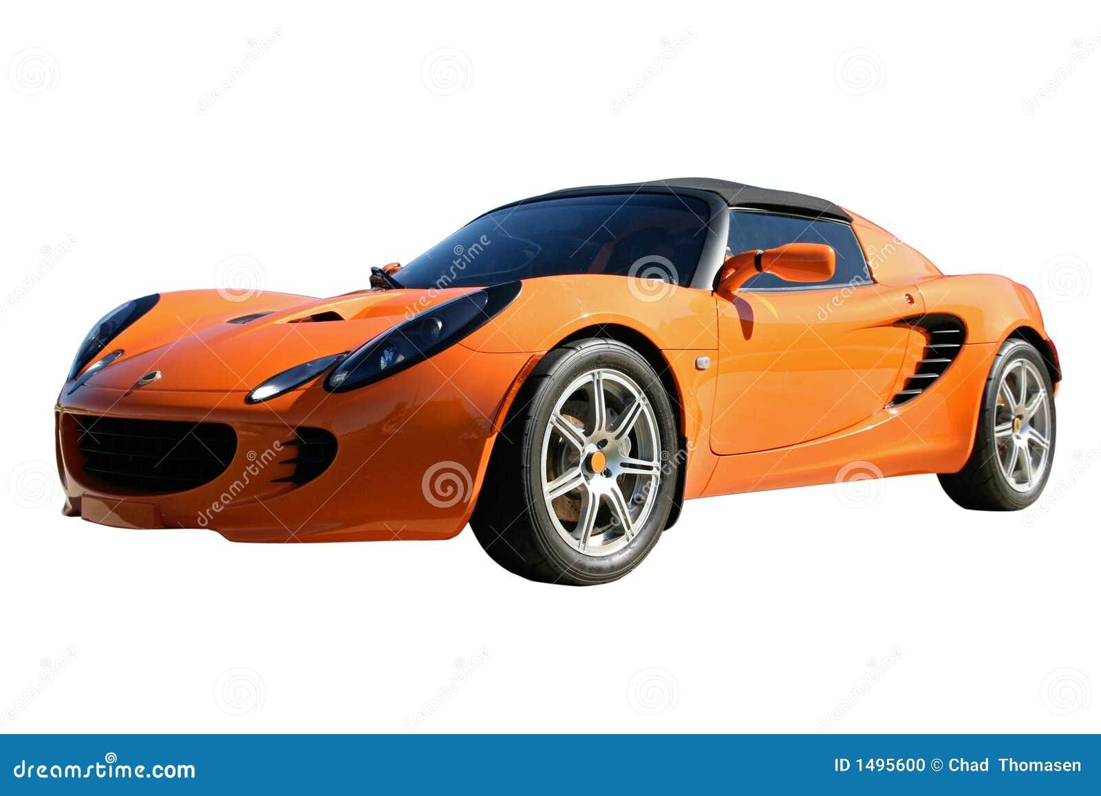 voiture de sport orange photo stock image du chaud chemin 1495600. Black Bedroom Furniture Sets. Home Design Ideas